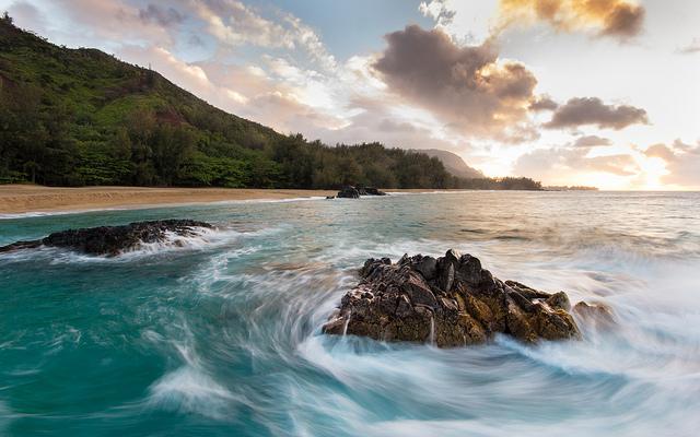 Photo credit to Alex Schwab via Creative Commons  - Lumahai Rocks