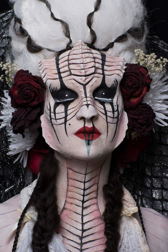 Inspired by the art of Virginie Ropars. Sculpted/Cast and applied by Mariel McClorey. Multi piece silicone prosthetic.