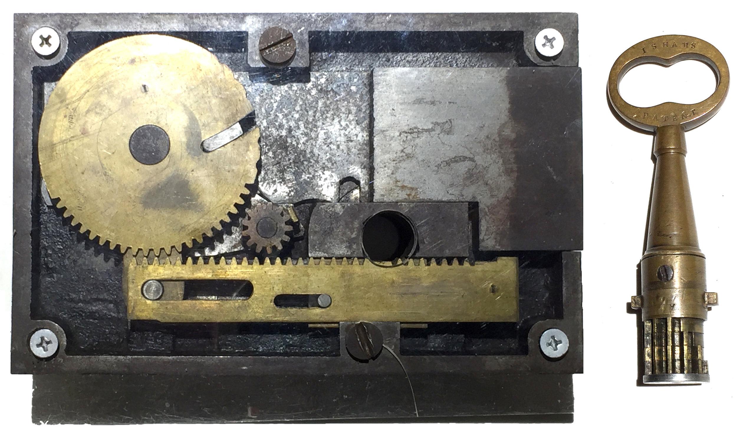 16. Ishams High Security Lock & Key. Sold: $8,100