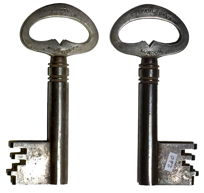 260. Chubb's Safe Key. Sold: $275