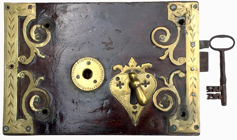 160. Queen Anne Iron Lever Door Lock. Sold: $880