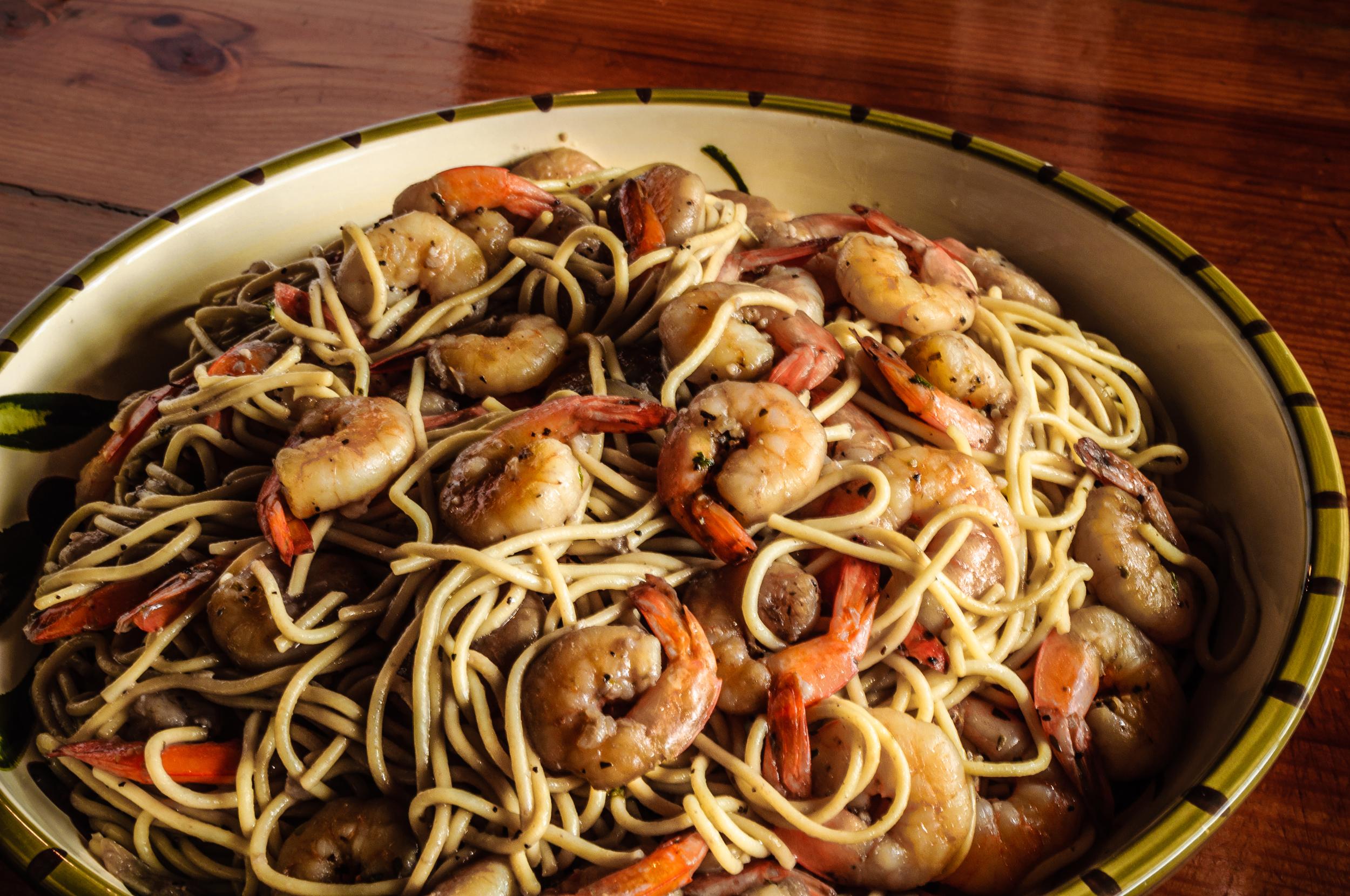 Shrimp Pasta is delicious summer pasta alternative.