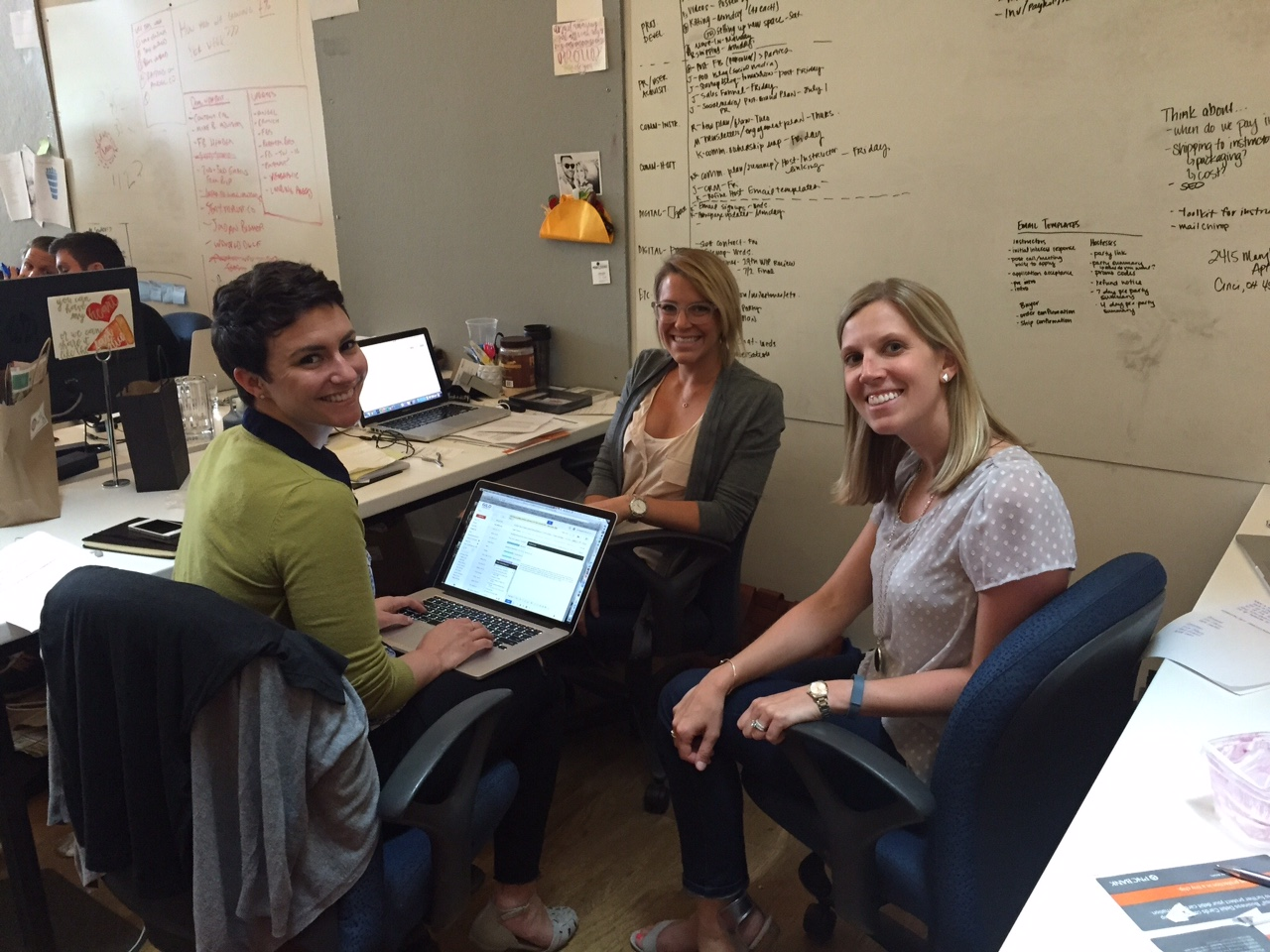 Gild Collective cofounders (from left): Rachel Bauer McCreary, Jessie Deye and Kelsey Pytlik