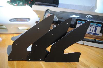 "Comparison: 5/32"" rivet, screw/nut, 1/8"" black rivets-Practically invisible, perfect!"