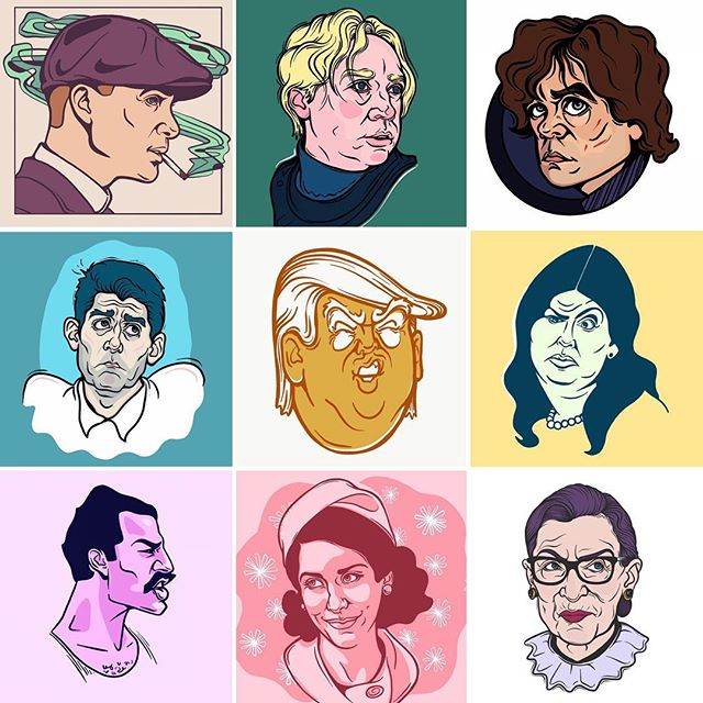 I struggled with capturing likeness for a long time but I practiced a lot and now drawing faces is my favorite. #faceyourart