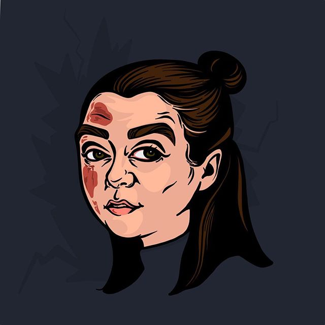 Not today. . . . . .  #AryaStark#got#gameofthrones#notoday#portraitdrawing#illustration#adobedraw