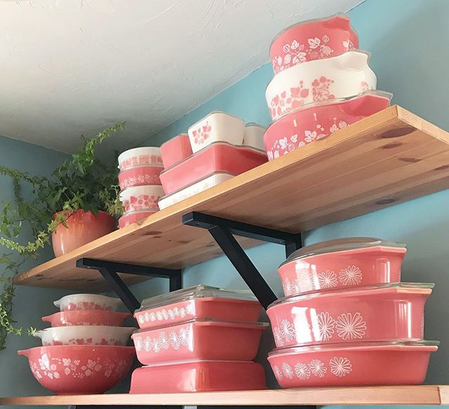 Turning 30 today was actually the least stressful and most delightful day I've had in weeks! (We sold our house last week and are living at my dad's until the [delayed] closing on our new house next week.) I'm looking forward to unpacking my precious Pyrex collection. Here's an old pic of my pink dishes 💕. They're important to me because they're pretty but they also represent a part of myself that developed in my later twenties—valuing my own opinions.