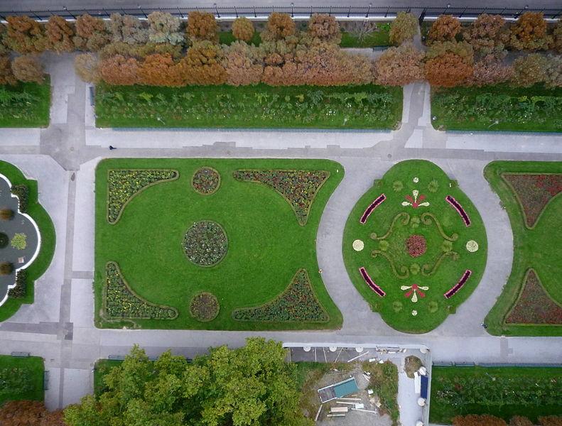 Aerial view of Volksgarten