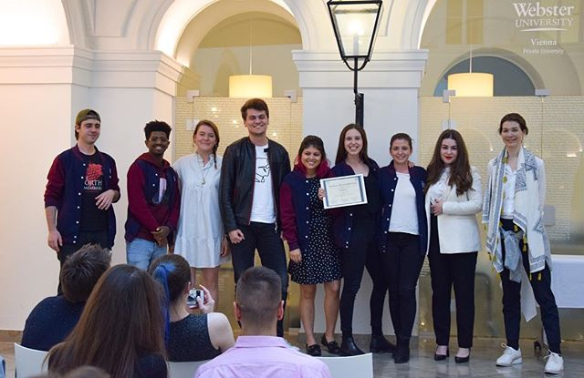 Last week, WebMUN obtained the Student's Organization Award for the third consecutive year during the Student Life Awards! • We would like to specially thank Webster Vienna and the IR department for their support and to all students, faculty and staff that have been part of WebMUN. We are looking forward to seeing you in WebMUN 2019! . . . #webmun2019 #revolutionizingwebmuns  #webstervienna #weareallwebster #conference #internationalrelations #modelun #websteruniversity