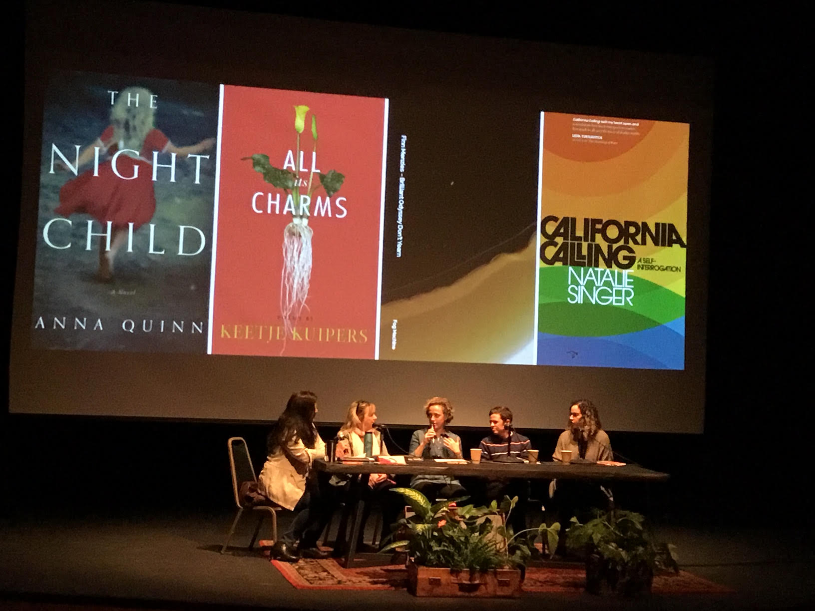 My Body, My Voice 2019 panel w/authors Anna Quinn, Keetje Kuipers, Finn Menzies, Natalie Singer