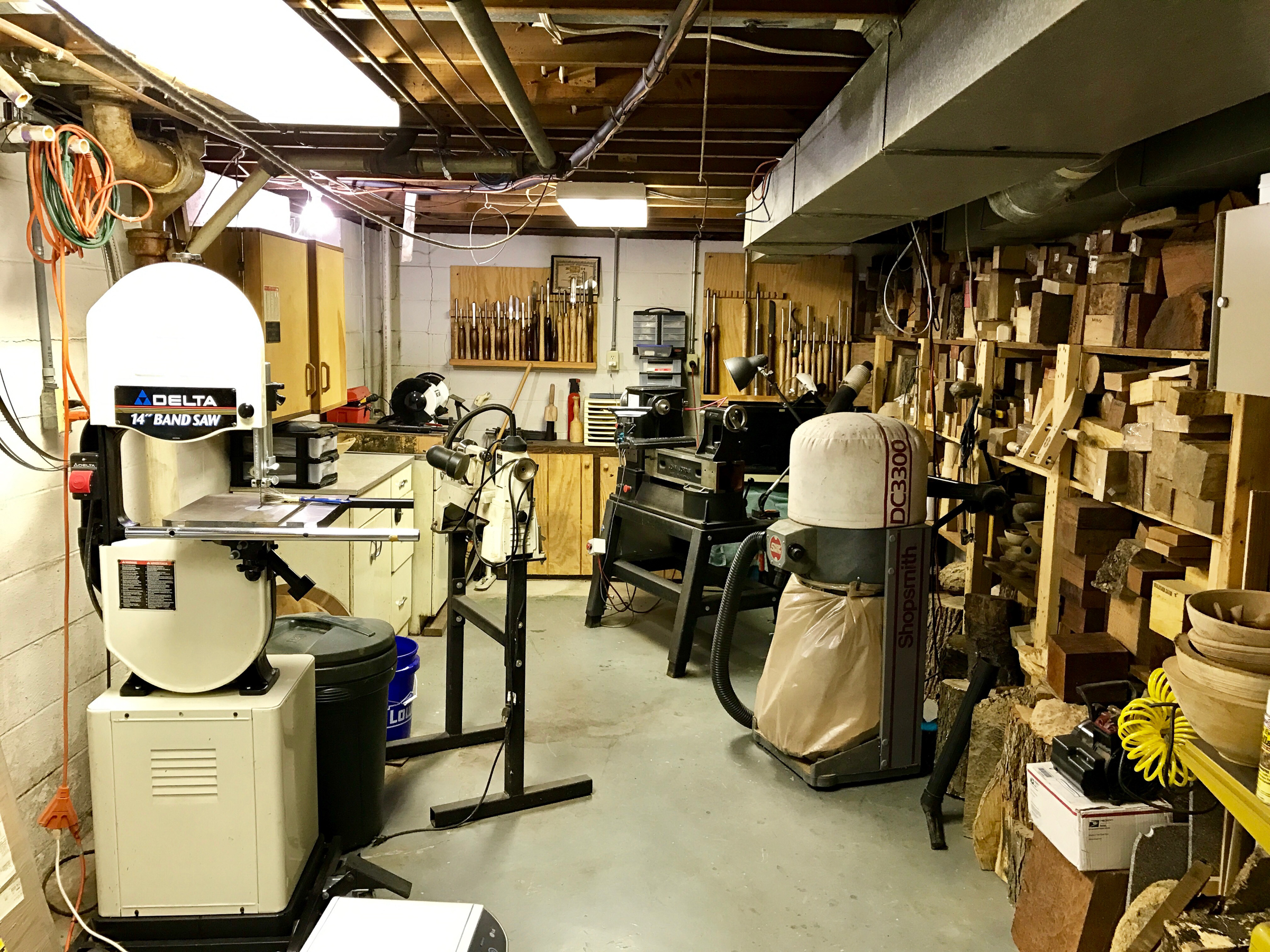 The primary work area