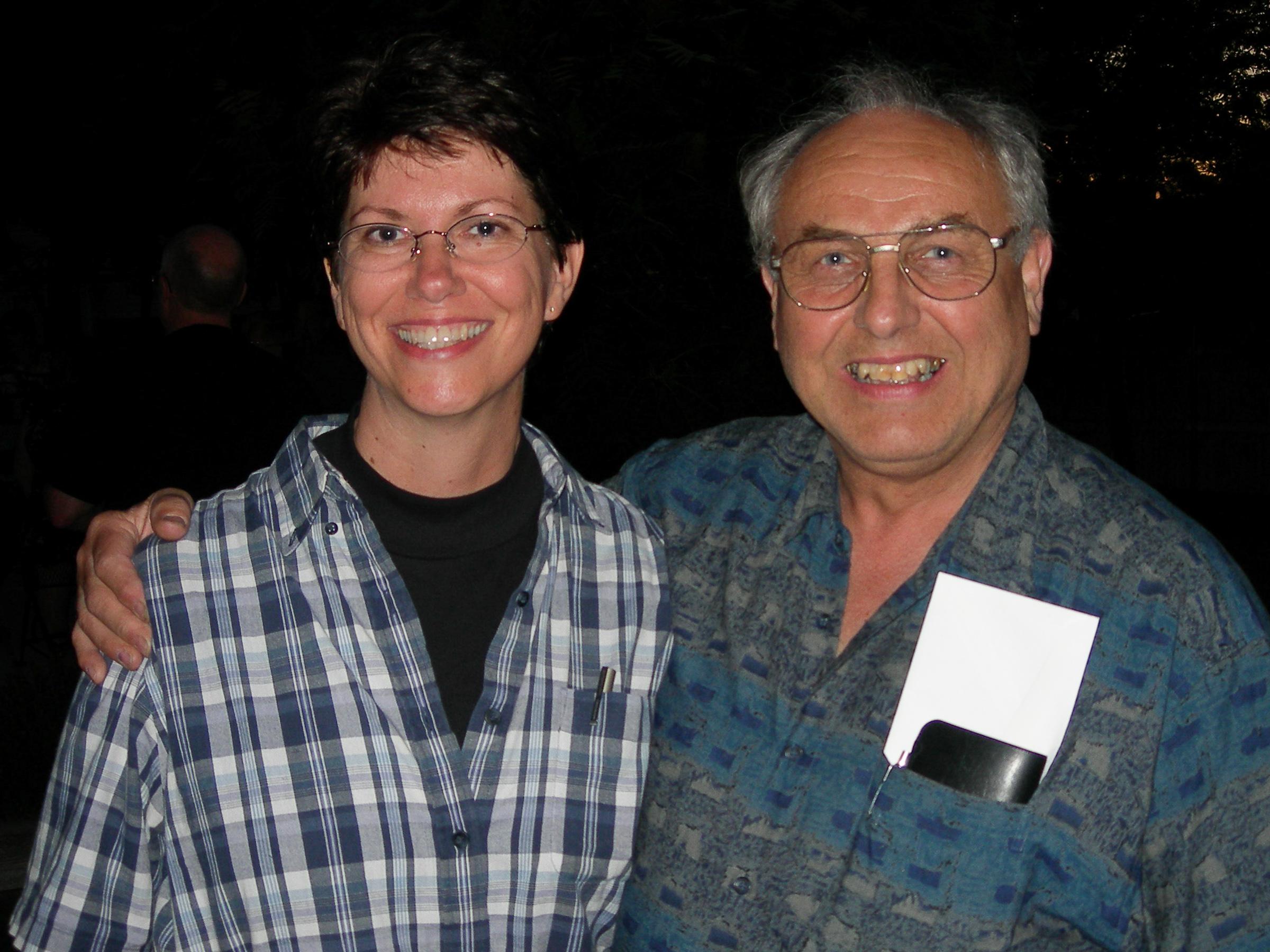 Andi Wole and Ray Key at the 2005 Utah Woodturning Symposium.