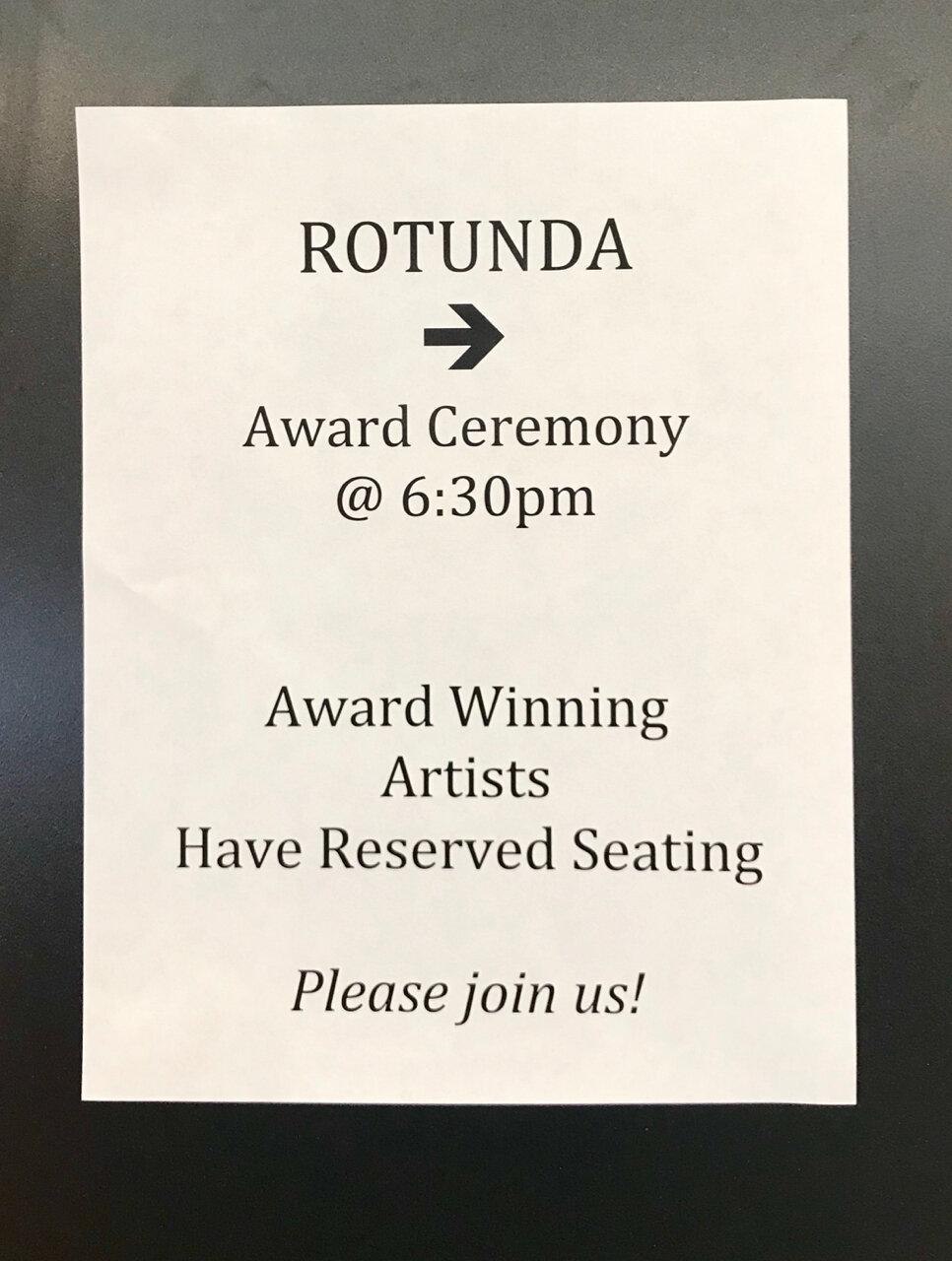 Awards Ceremony - this way...