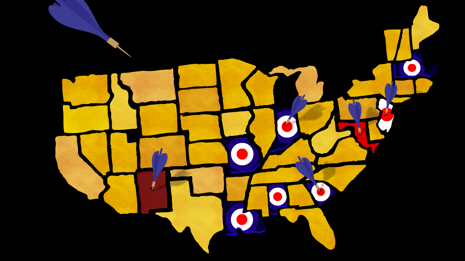 Targeted lawn dart removal of several states.