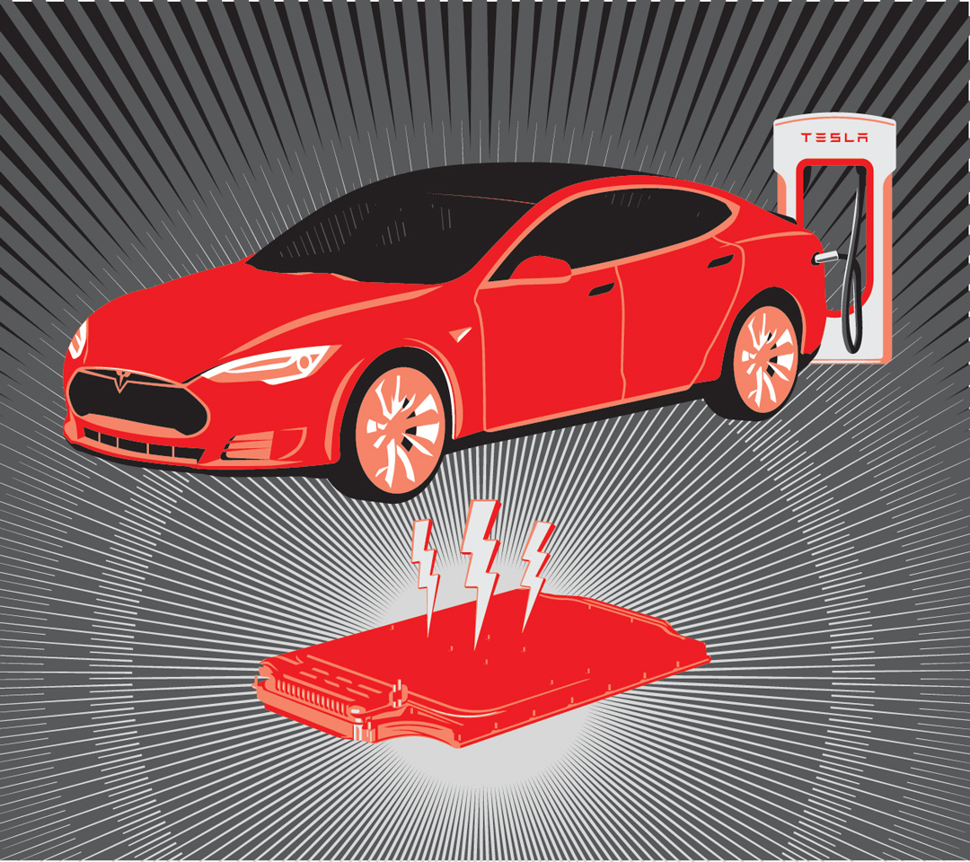 Tesla motors and their body-sized battery is making electric cars more of an everyday reality.