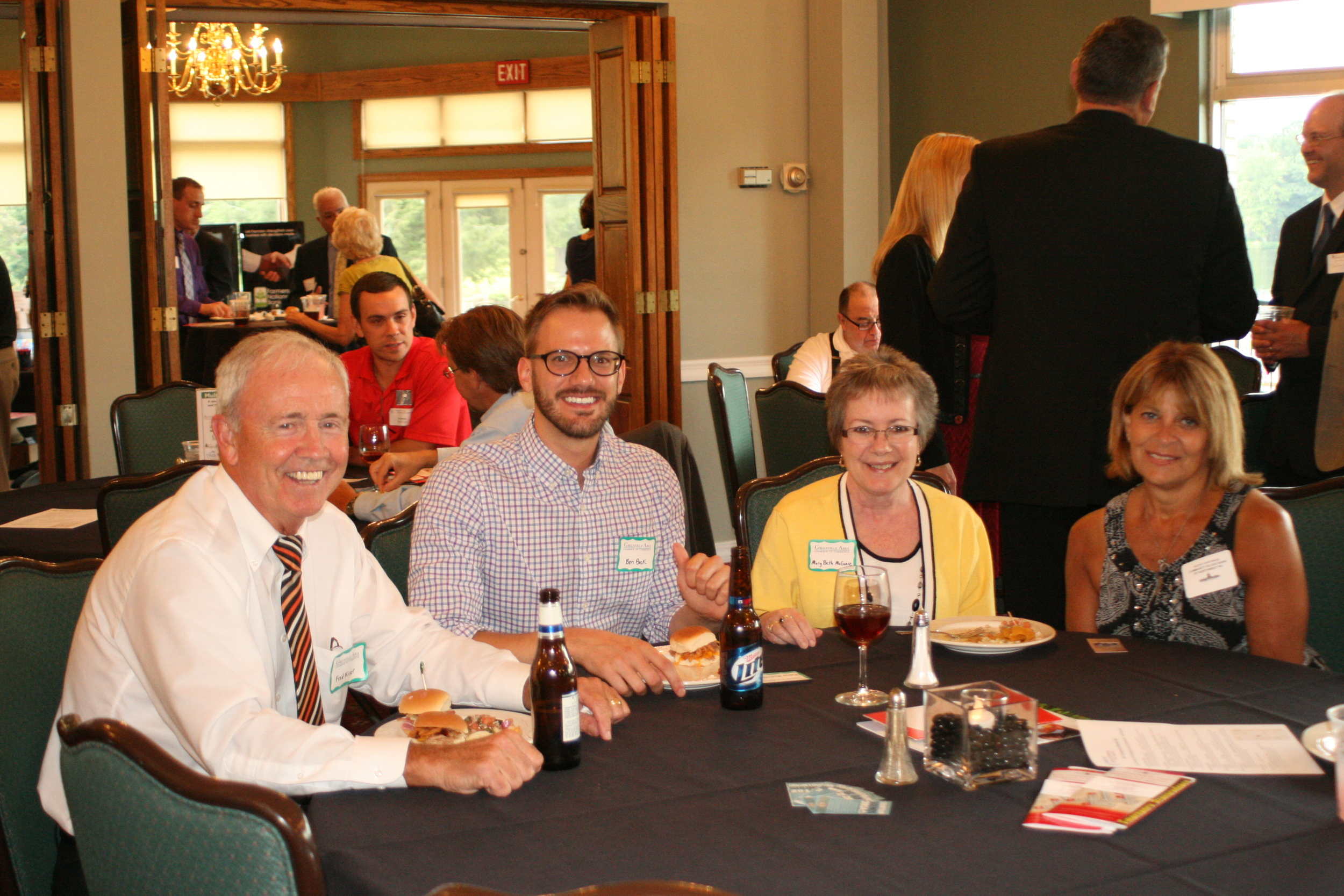 Part of the Greenville Area Chamber Group enjoying some networking.