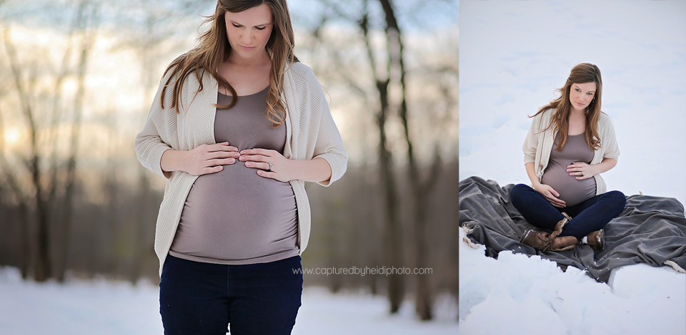 7-central-iowa-maternity-photographer-huxley-ames-ankeny-desmoines-capturedbyheidi-maternity-pictures-in-snow-forest.png