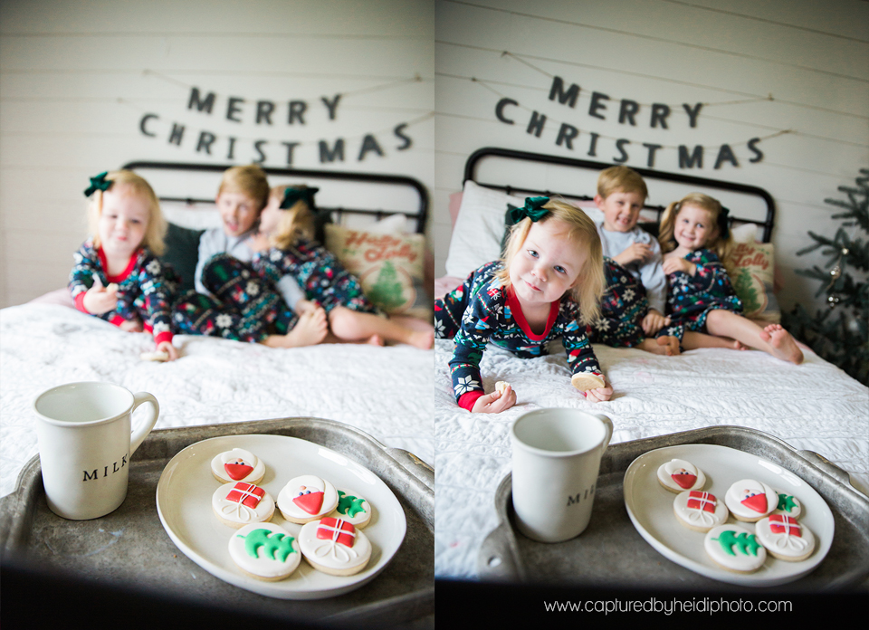 7 central iowa family photographer huxley desmoines ankeny captured by heidi hicks yume cookies christmas minis pajamas santa milk cookies.jpg