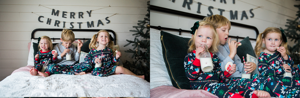 13 central iowa family photographer huxley desmoines ankeny captured by heidi hicks yume cookies christmas minis pajamas santa milk cookies.jpg