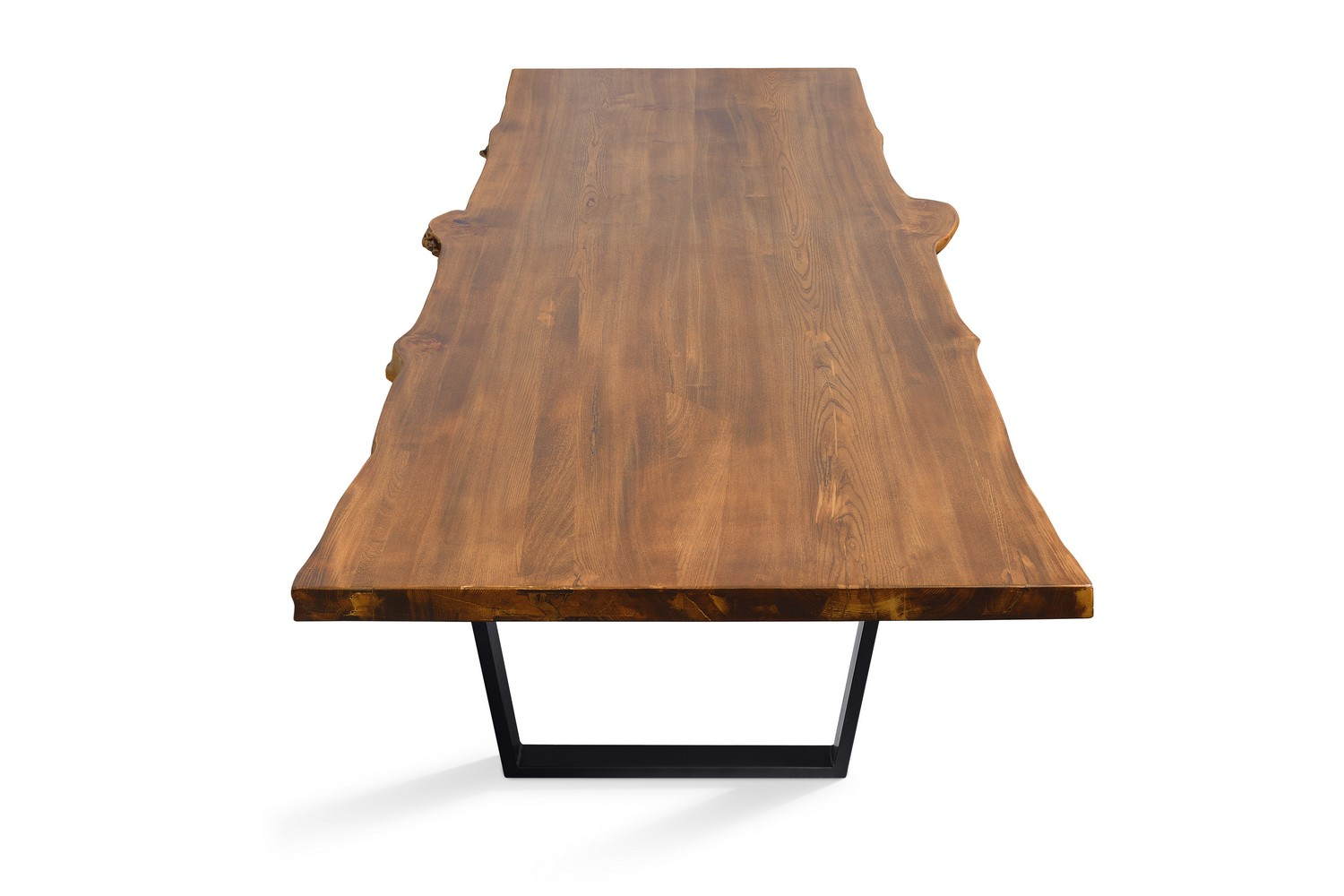 Etz & Steel Live Edge Cognac Table Black Base 3.jpg