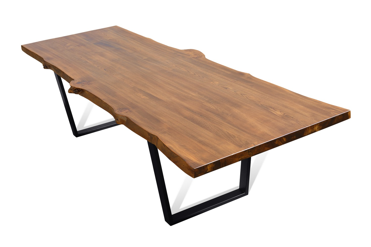 Etz & Steel Live Edge Cognac Table Black Base 4.jpg