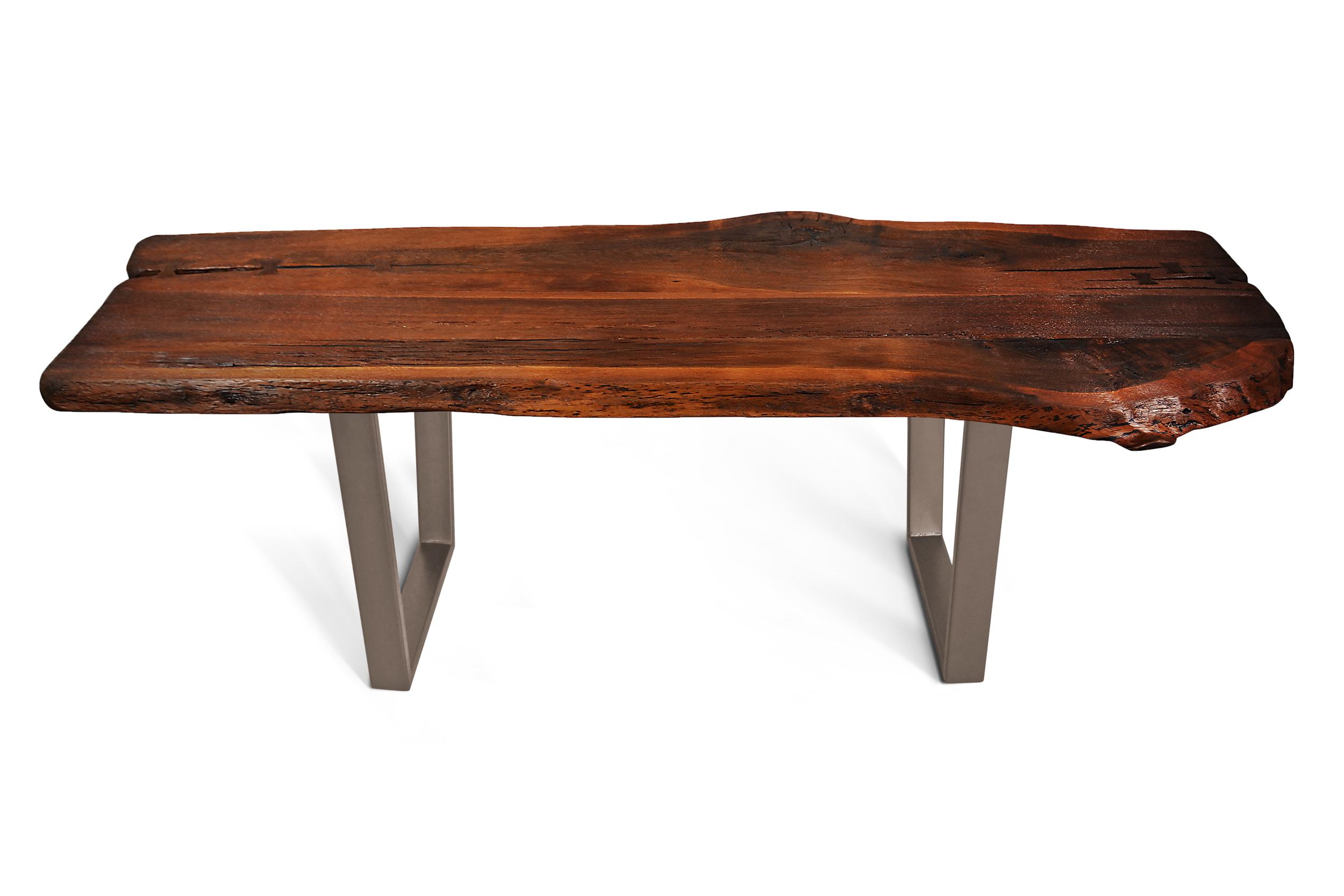 Etz & Steel Shark Tooth Live Edge Table Textured Bronze Base 1.jpg