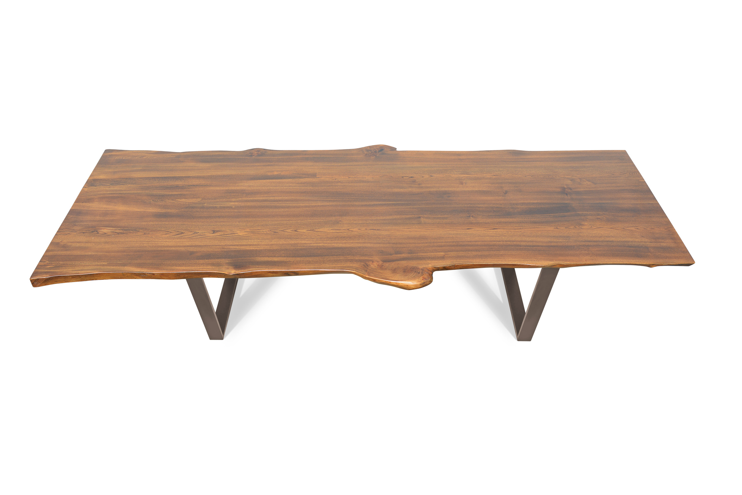 Etz & Steel Live Edge Cognac Table Textured Bronze Base 1.jpg