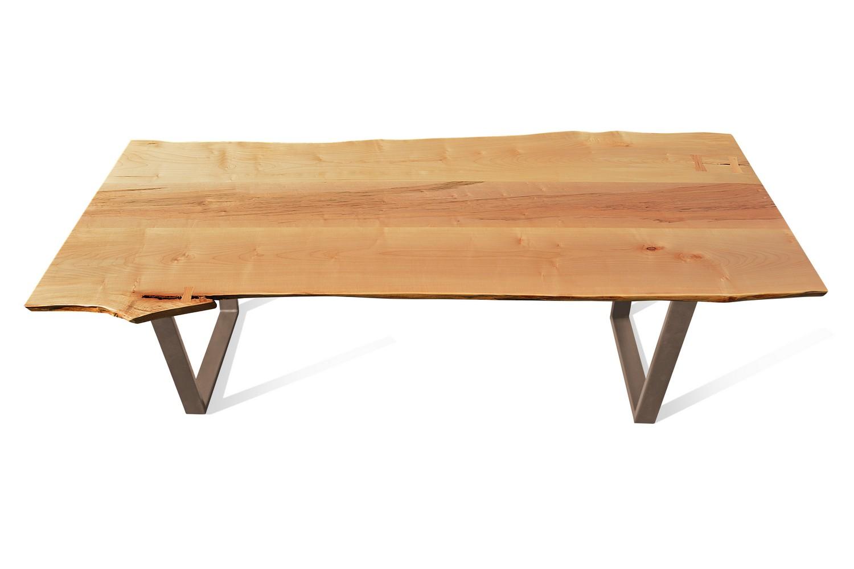 Etz & Steel Cara Live Edge Table Textured Bronze Base 1.jpg