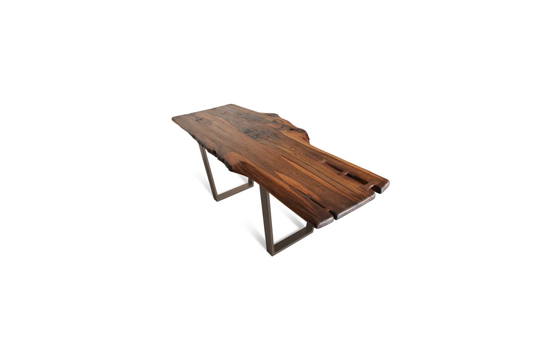 Etz & Steel Brown Beauty Live Edge Table Textured Bronze Base 1.jpg