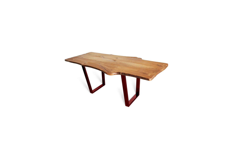 Etz & Steel King Ash Live Edge Table Lollypop Red Base 1.jpg