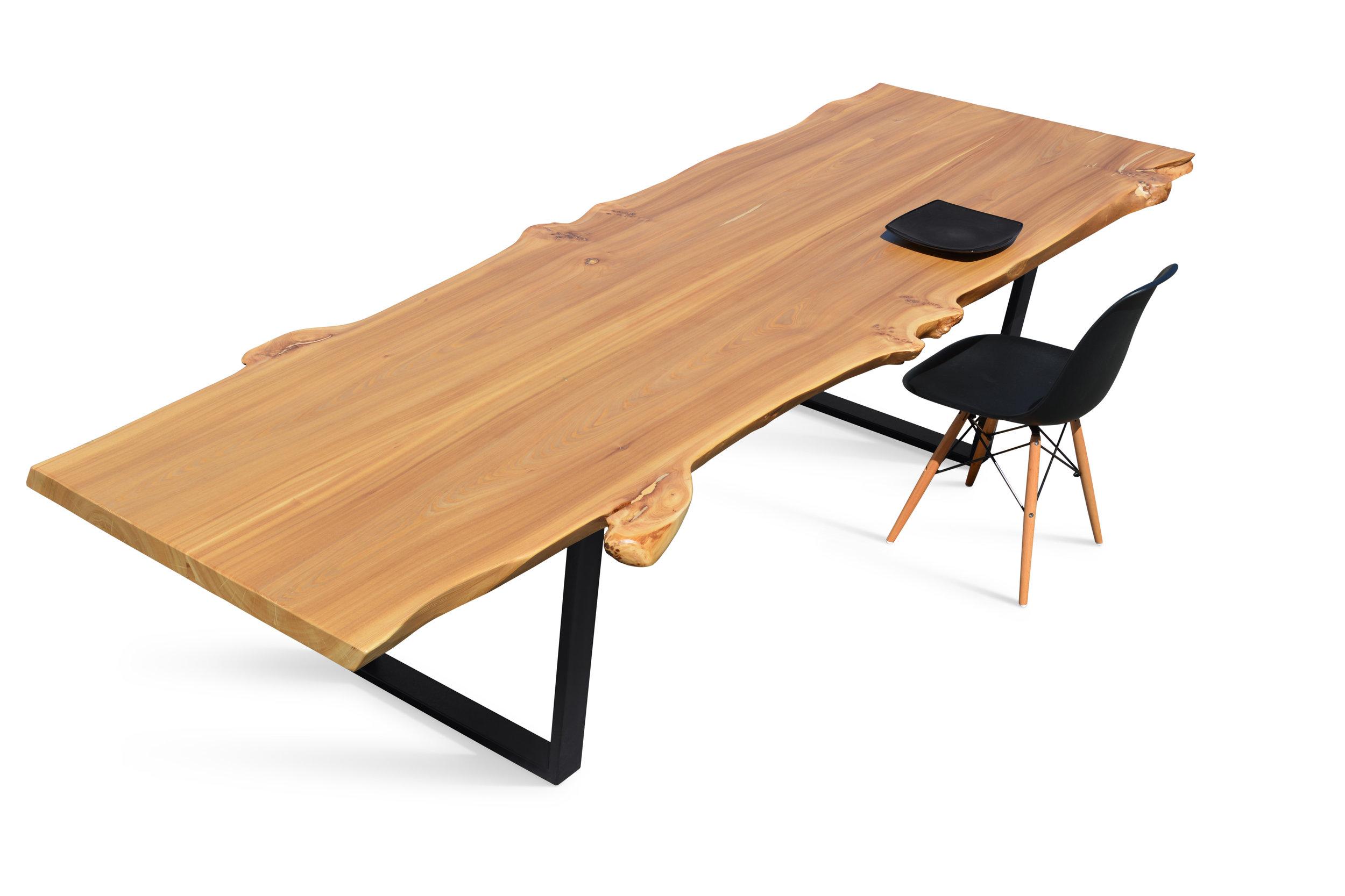 Etz & Steel Wave Live Edge Table Dining Example 1.JPG
