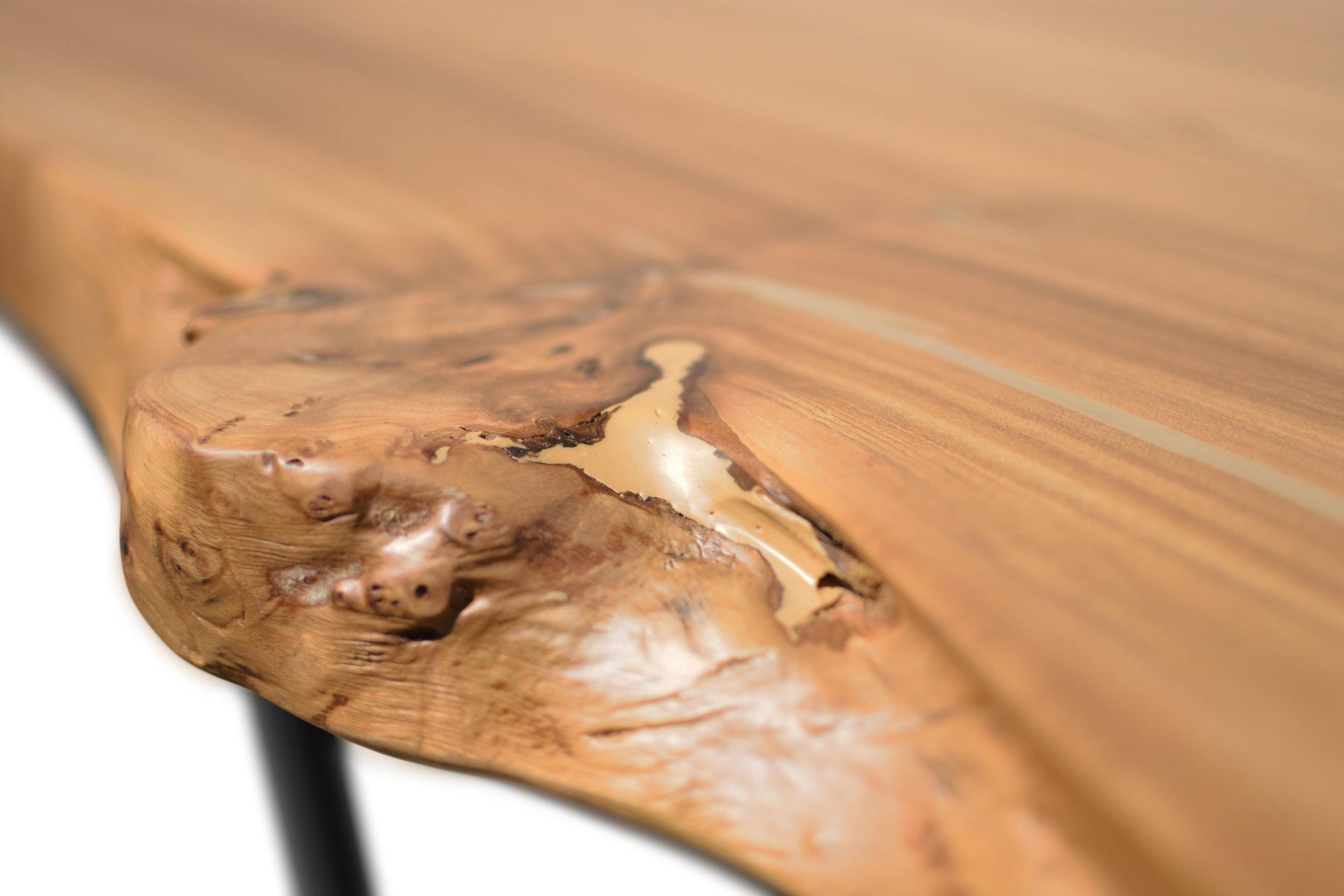 Etz & Steel Wave Live Edge Table Close Up 5.JPG