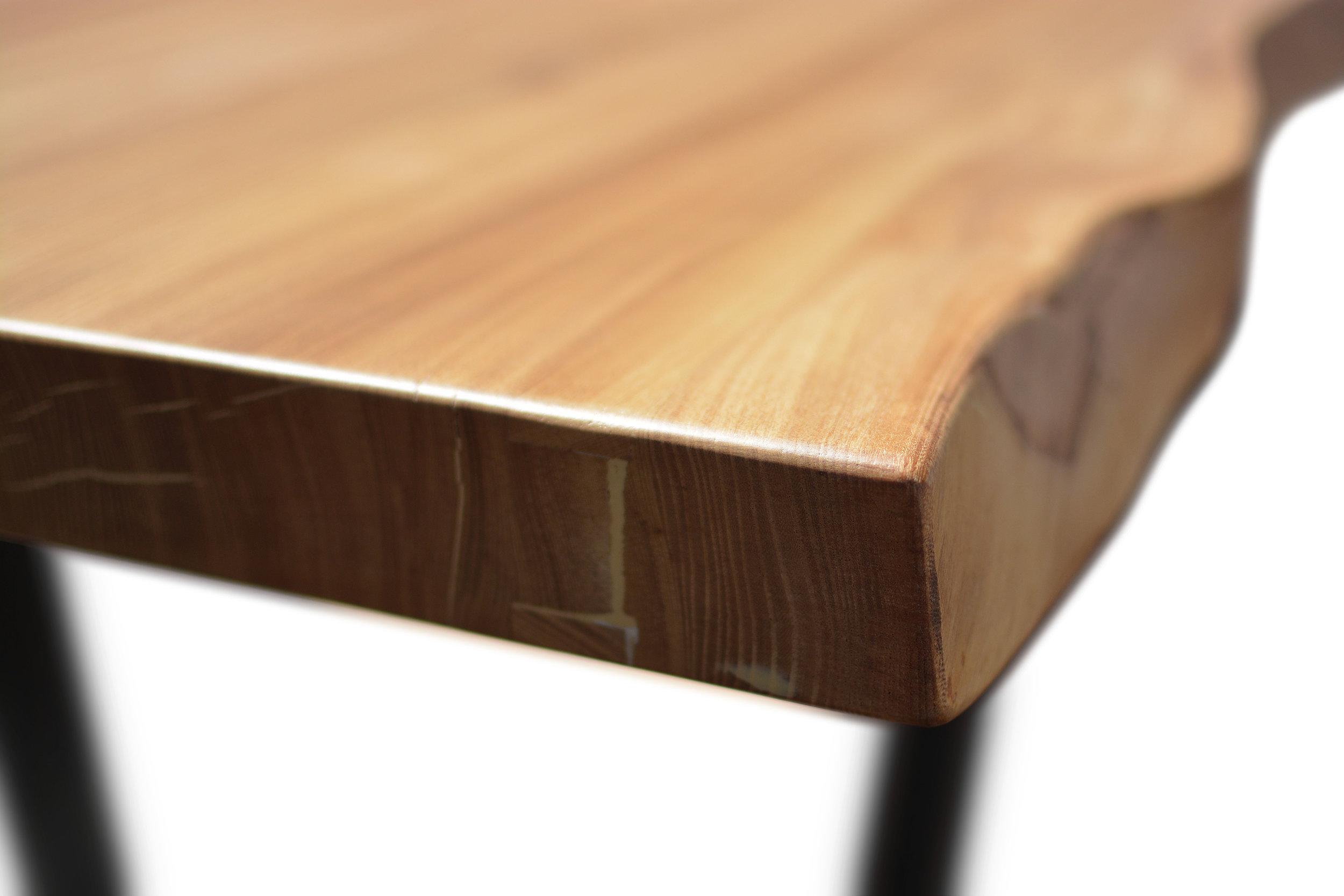 Etz & Steel Wave Live Edge Table Close Up 7.JPG
