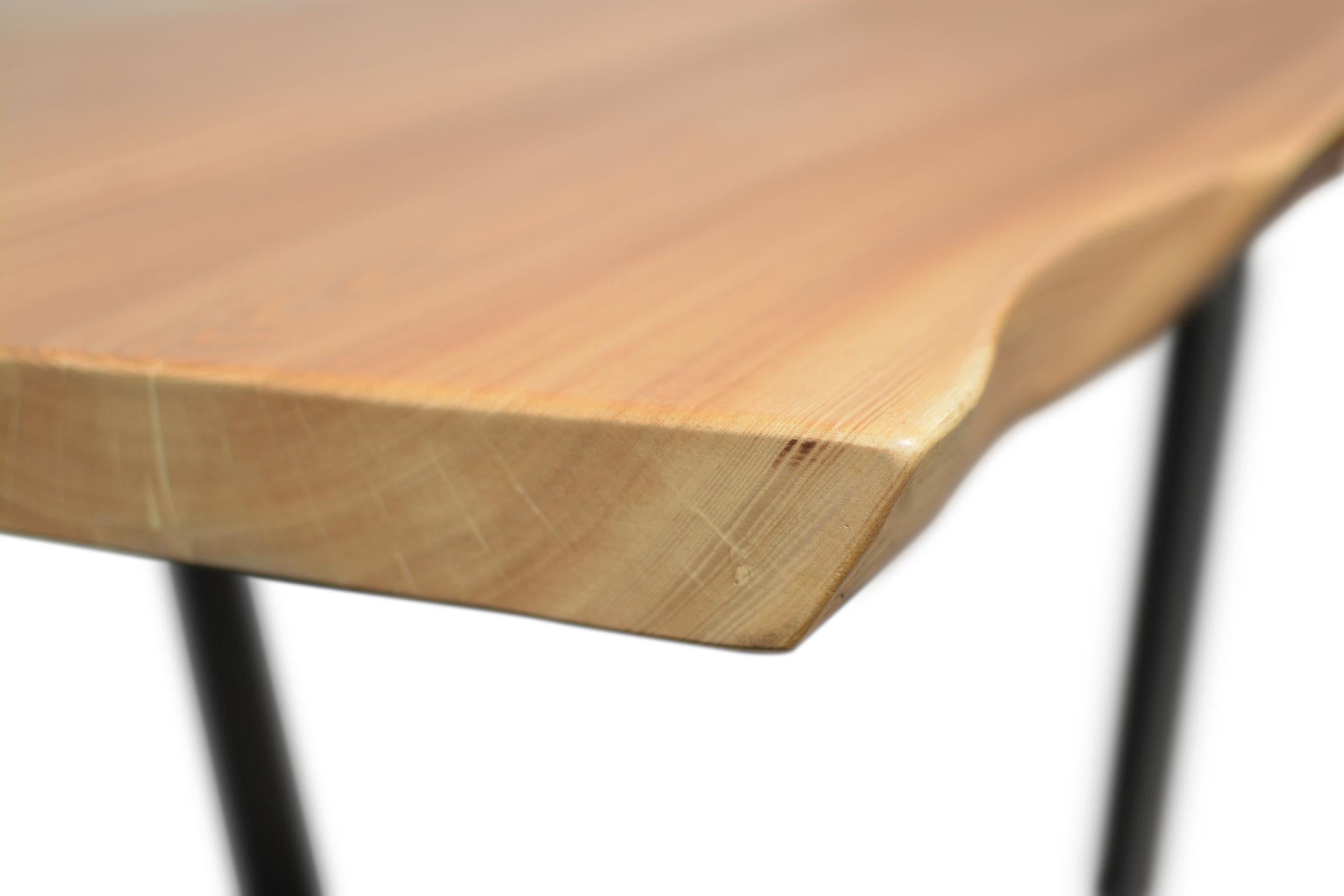 Etz & Steel Wave Live Edge Table Close Up 15.JPG