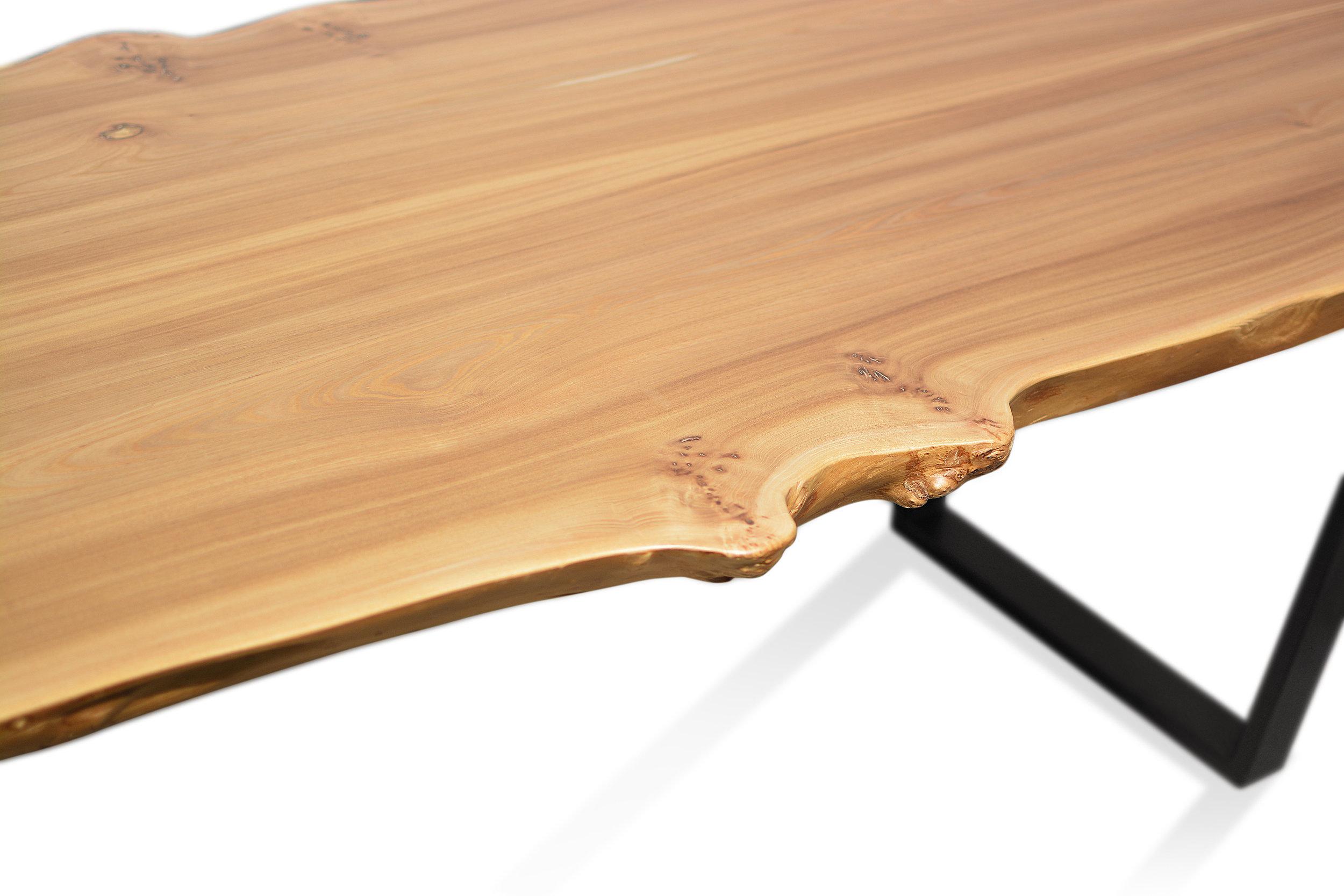 Etz & Steel Wave Live Edge Table Close Up 22.JPG