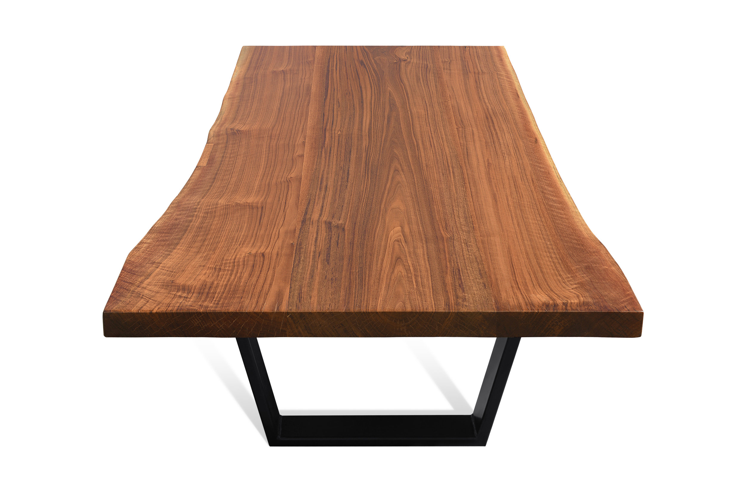 Etz & Steel Iris Live Edge Walnut Coffee Table Black Base 3.JPG