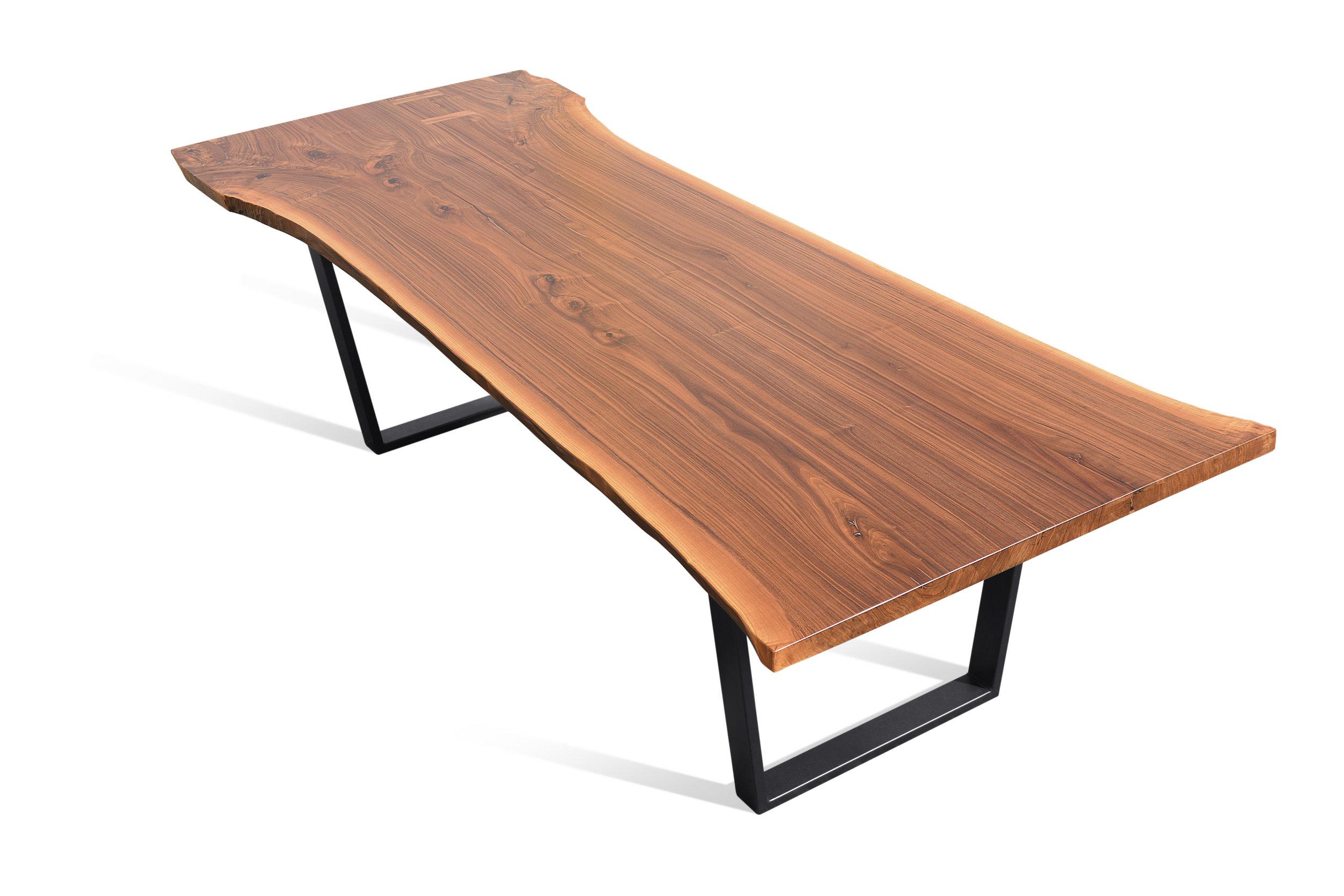 Etz & Steel Hermes Live Edge Walnut Table Black Base 4.JPG