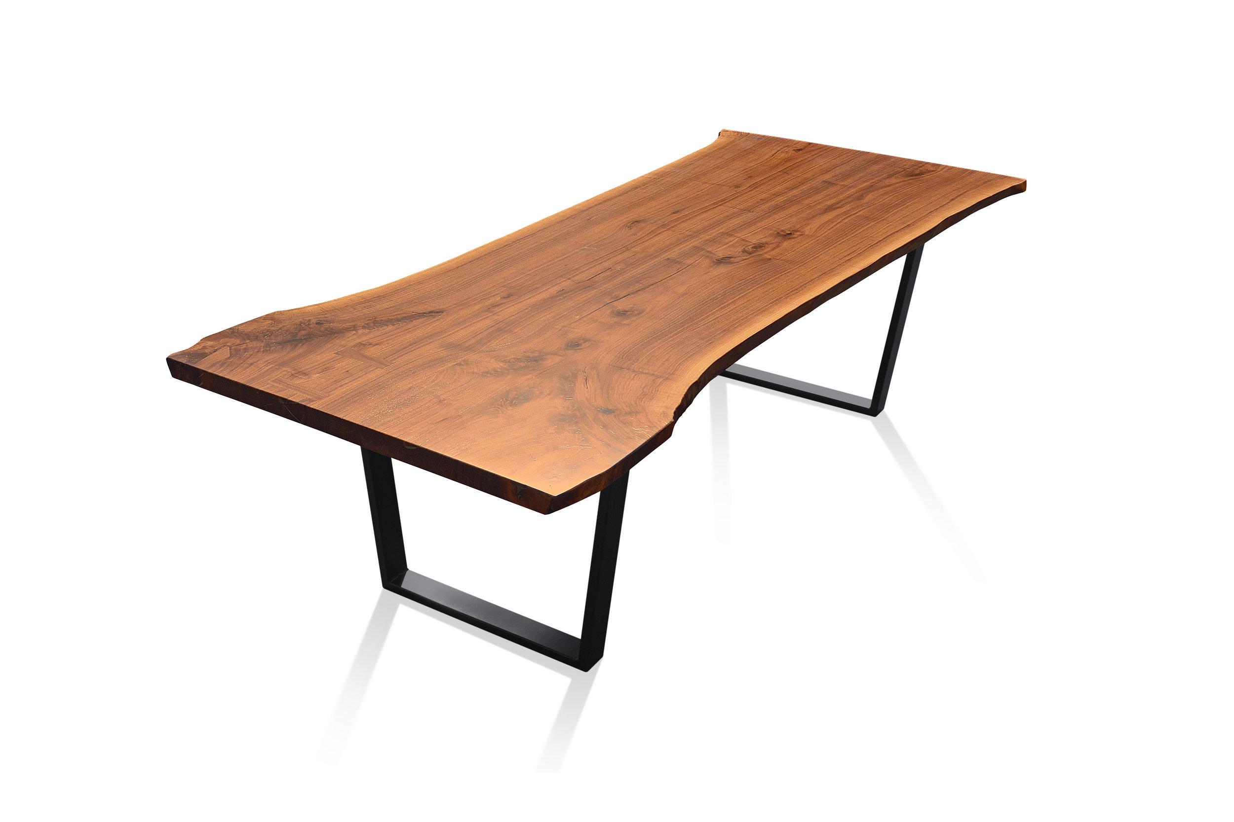 Etz & Steel Hermes Live Edge Walnut Table Black Base 6.JPG