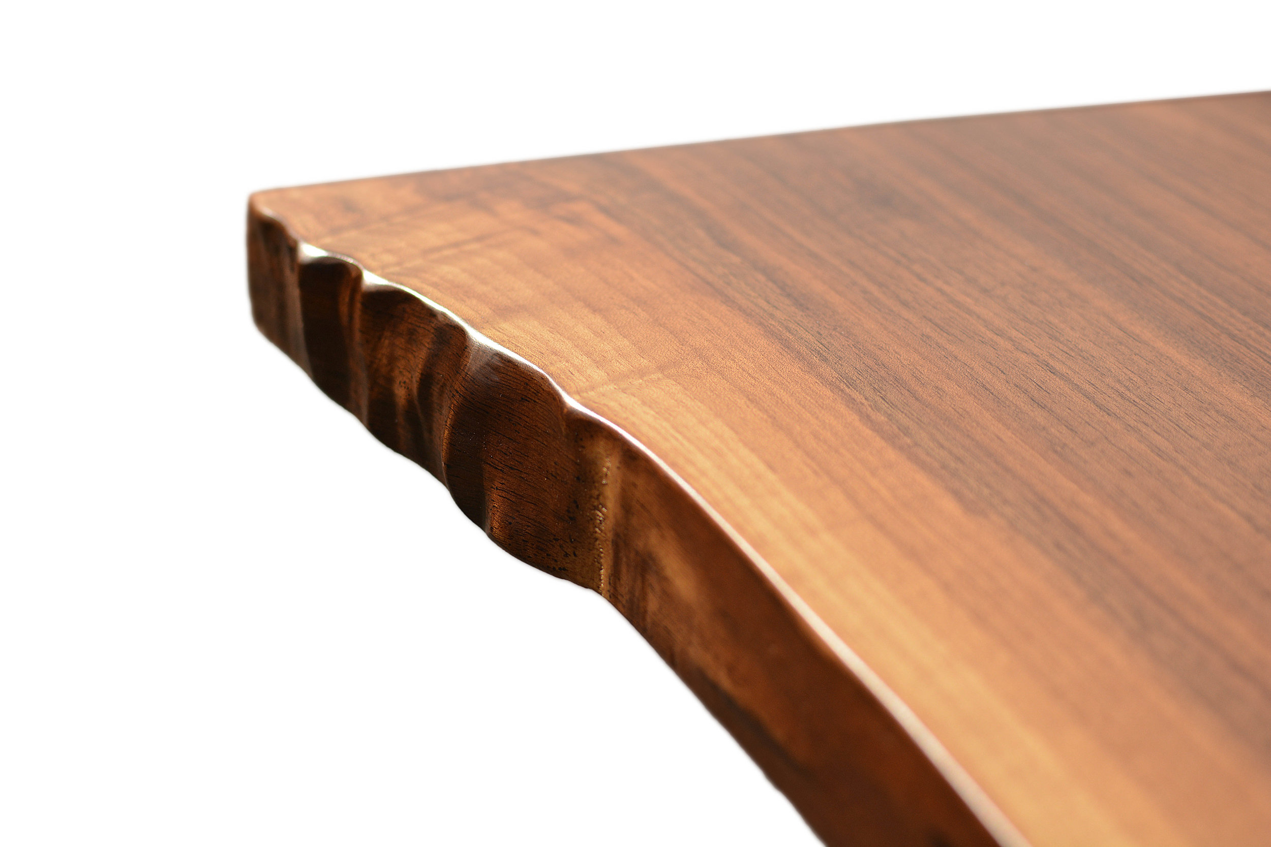 Etz & Steel Hermes Live Edge Walnut Table Close Up 1.JPG