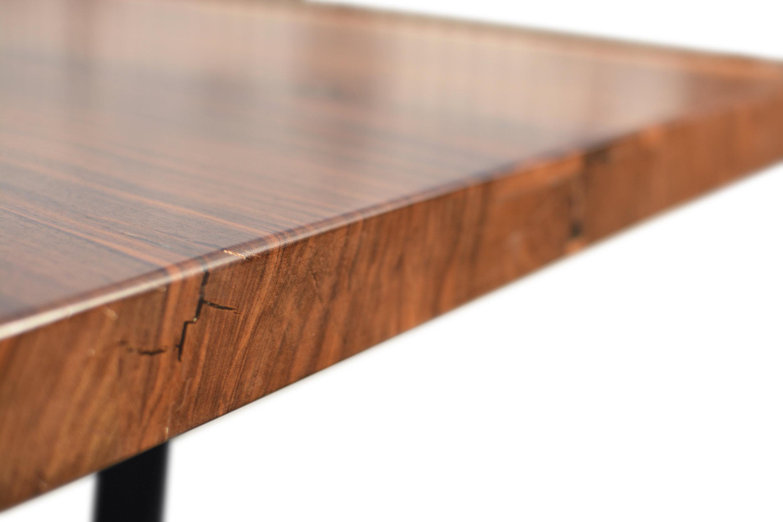 Etz & Steel Hermes Live Edge Walnut Table Close Up 3.JPG