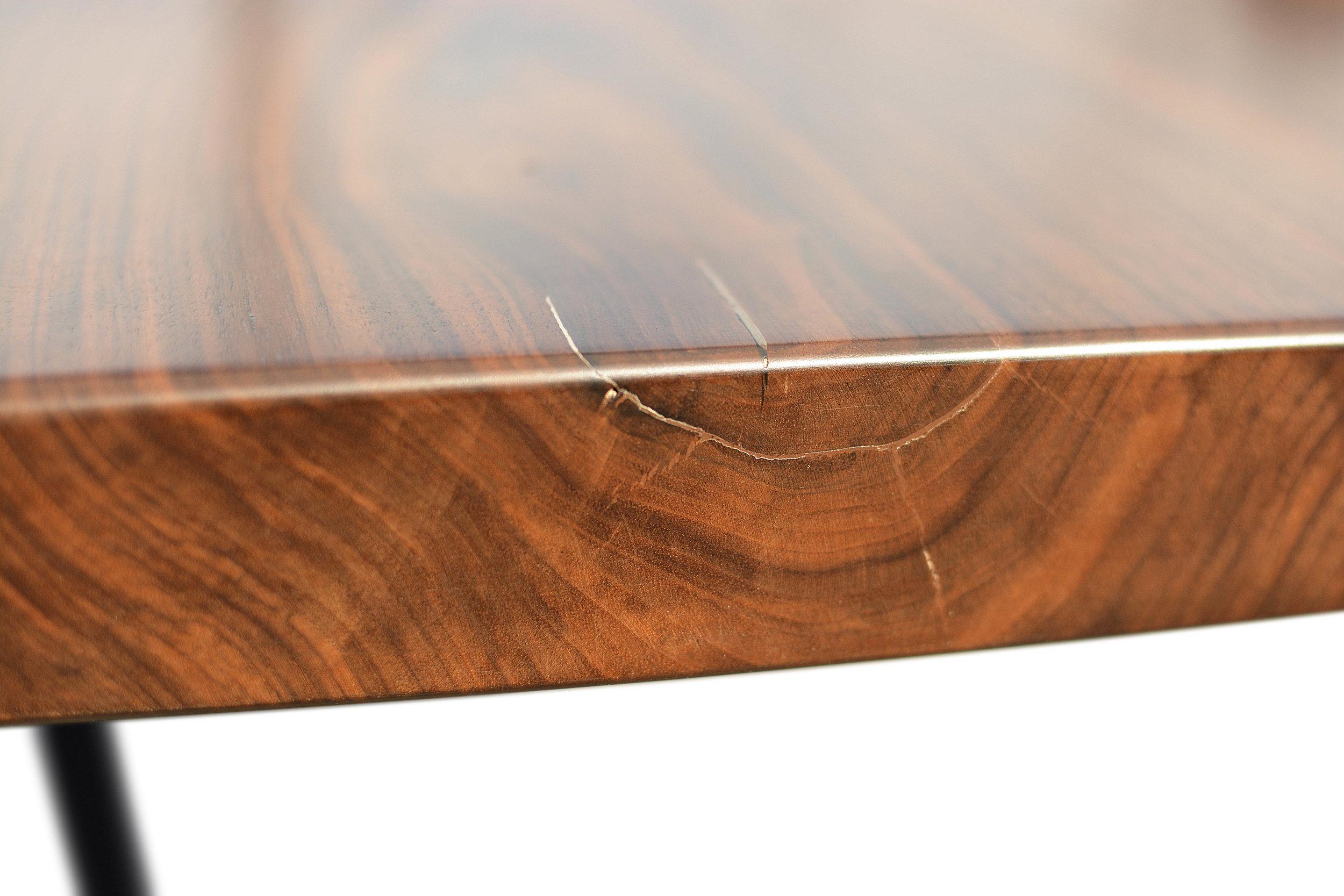 Etz & Steel Hermes Live Edge Walnut Table Close Up 4.JPG