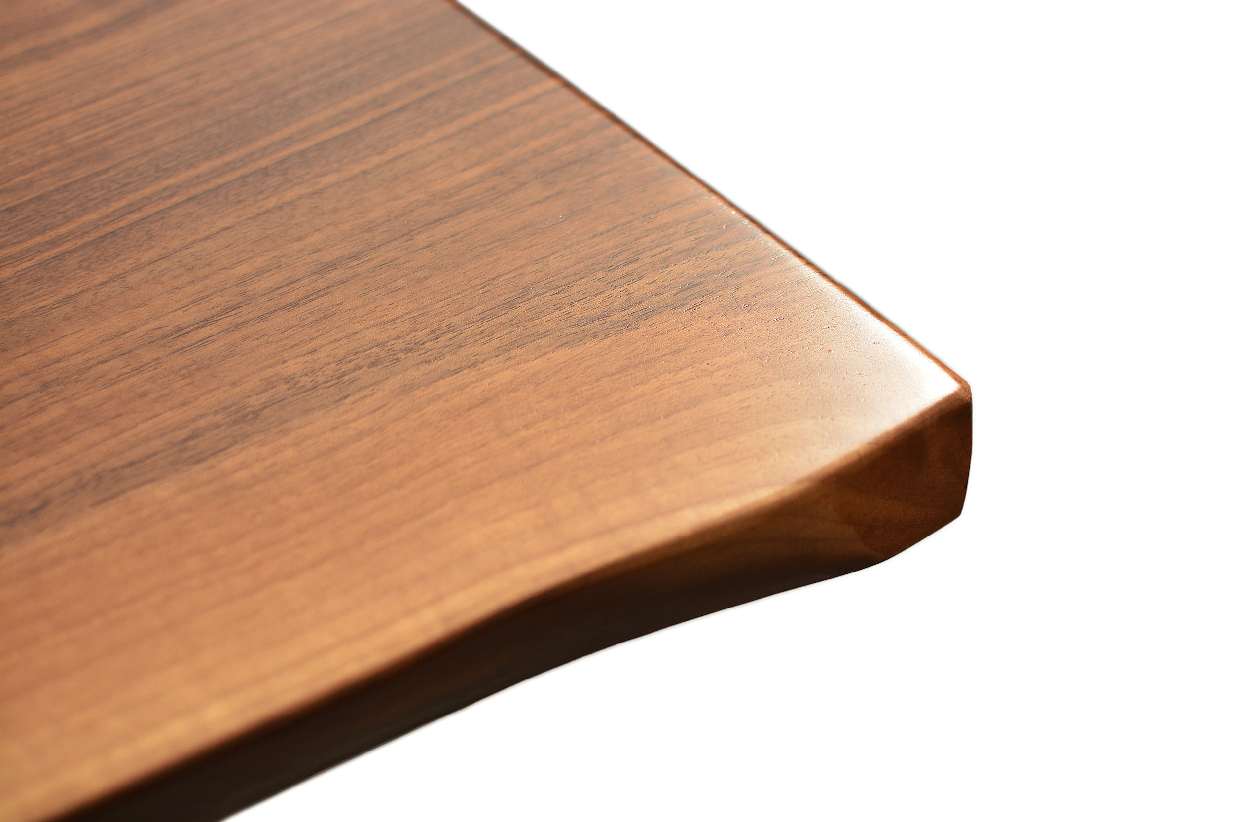 Etz & Steel Hermes Live Edge Walnut Table Close Up 5.JPG