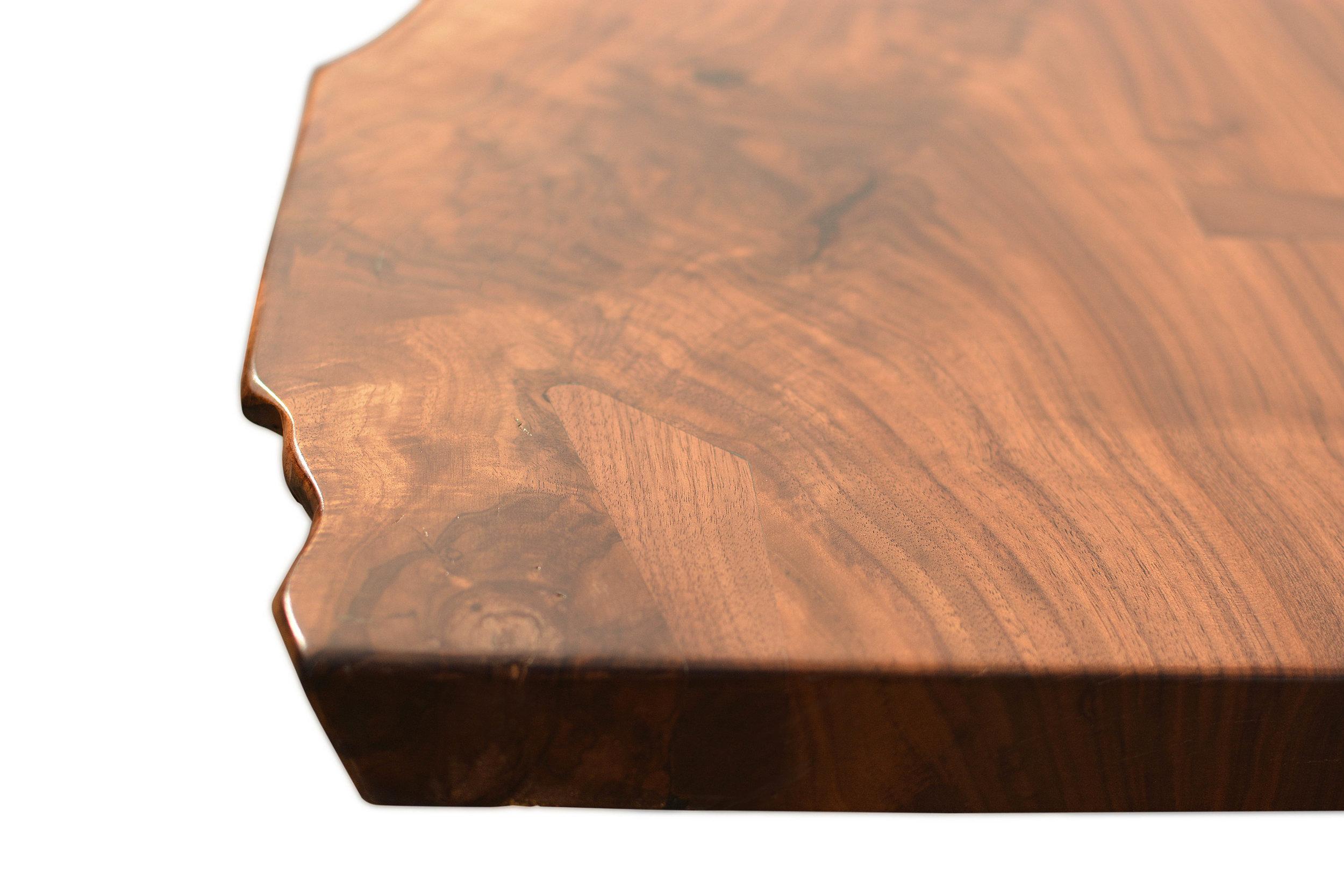 Etz & Steel Hermes Live Edge Walnut Table Close Up 9.JPG