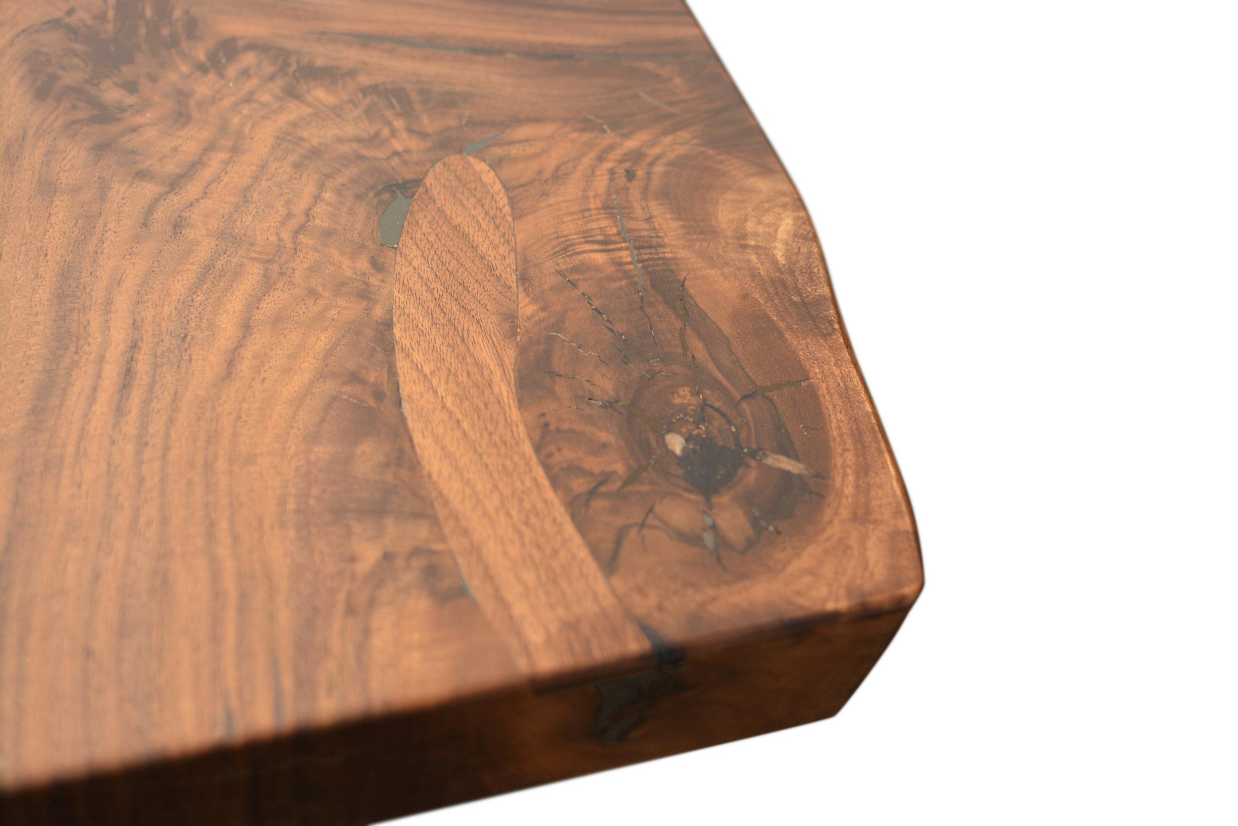 Etz & Steel Hermes Live Edge Walnut Table Close Up 10.JPG