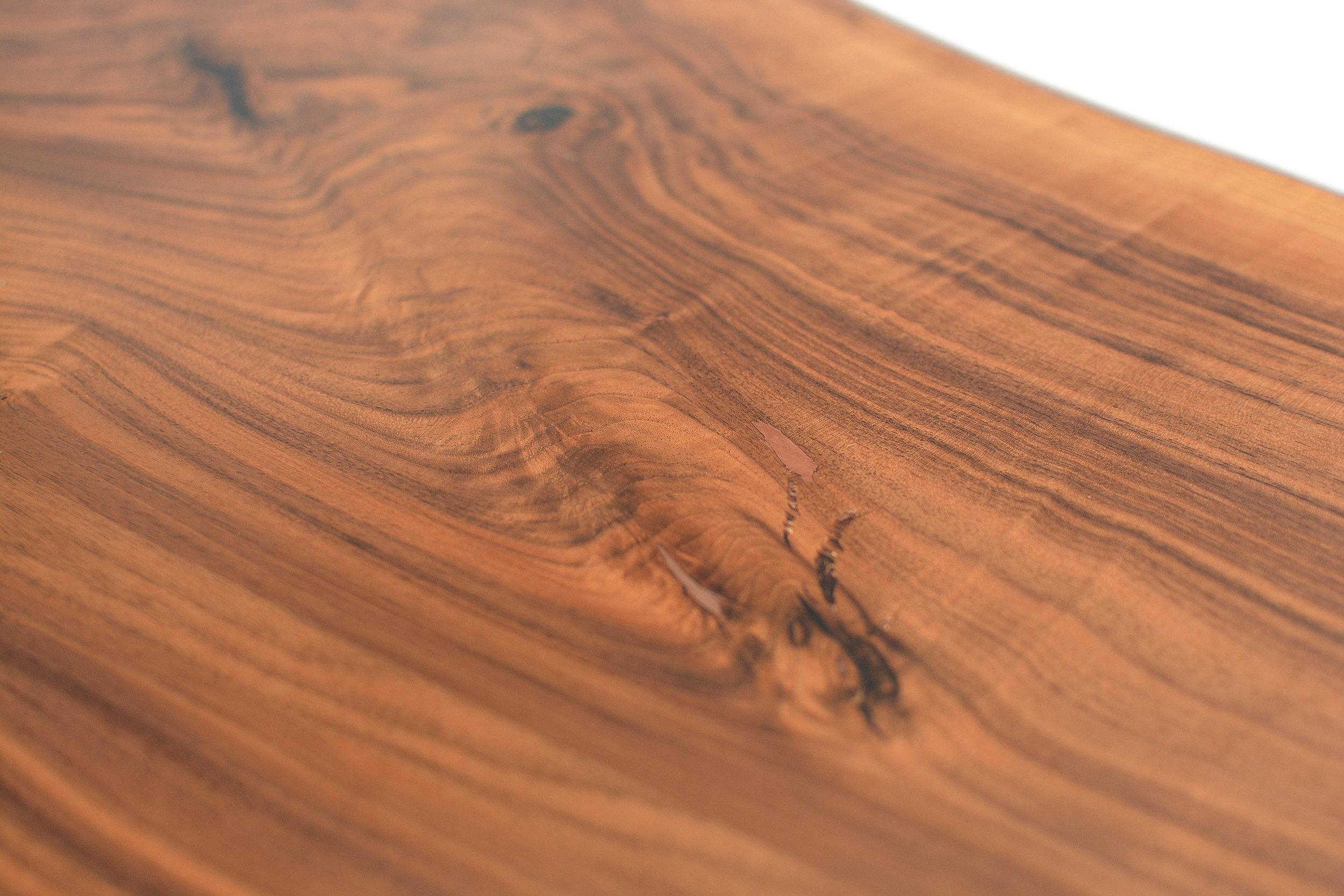 Etz & Steel Hermes Live Edge Walnut Table Close Up 13.JPG