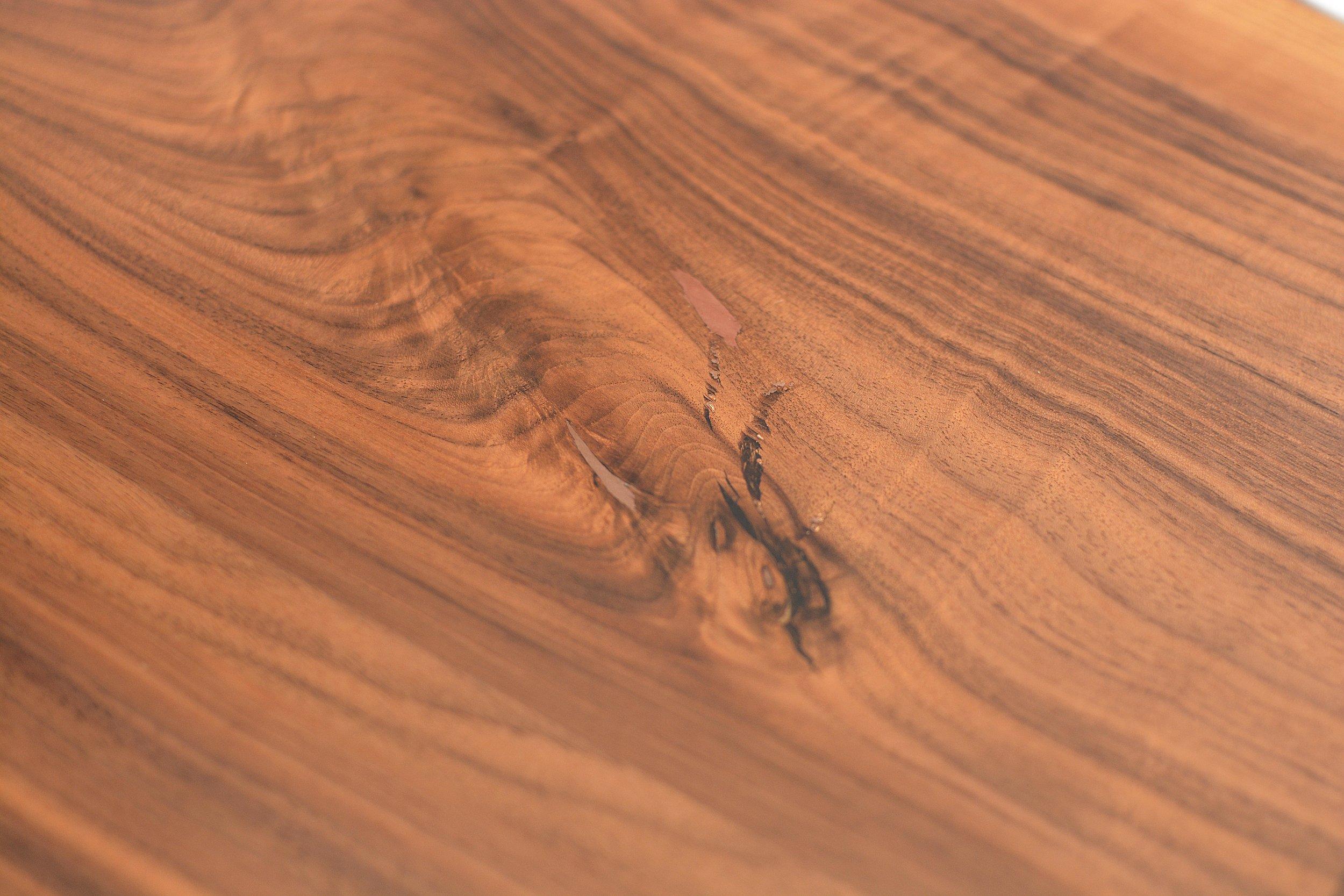 Etz & Steel Hermes Live Edge Walnut Table Close Up 14.JPG