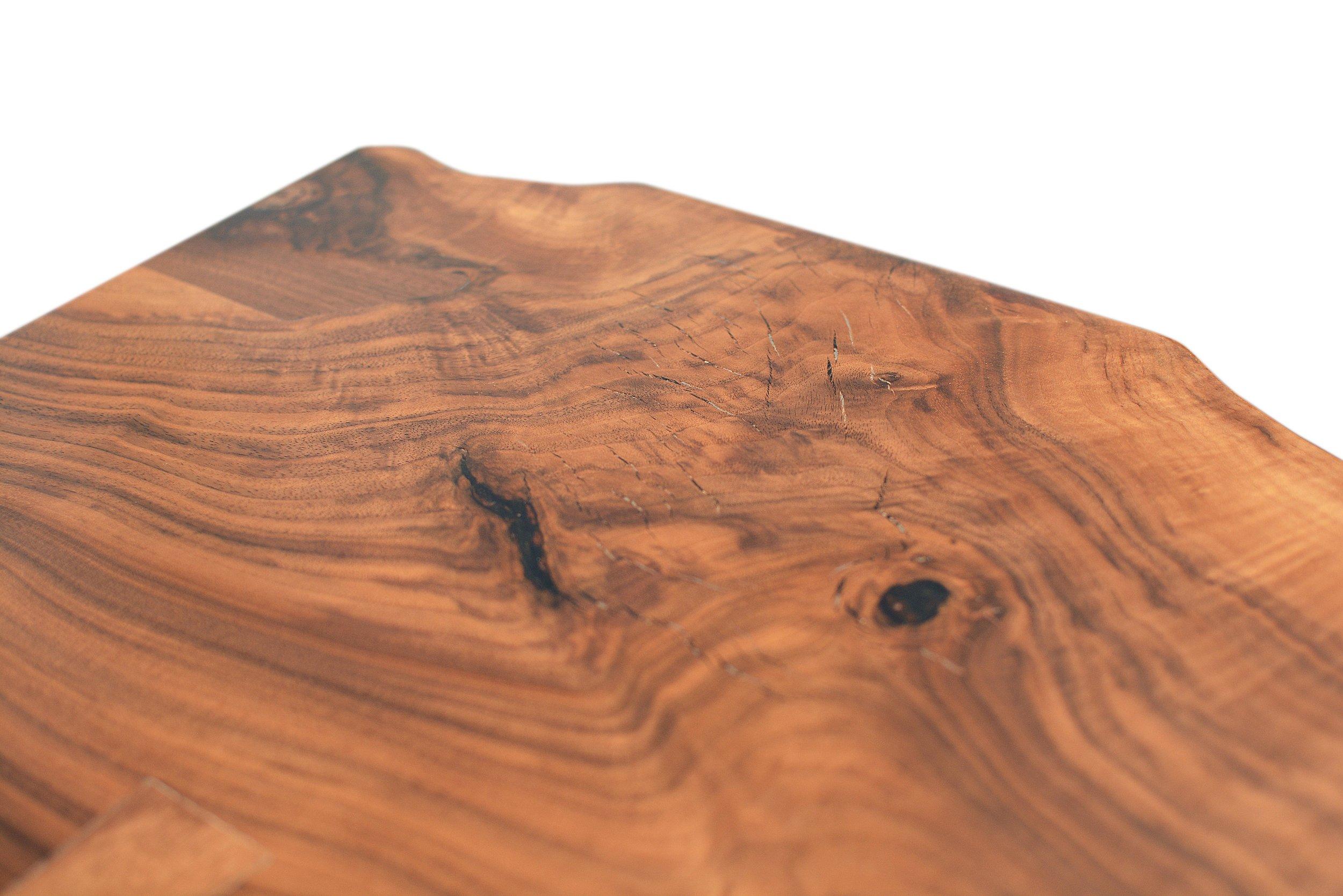 Etz & Steel Hermes Live Edge Walnut Table Close Up 15.JPG