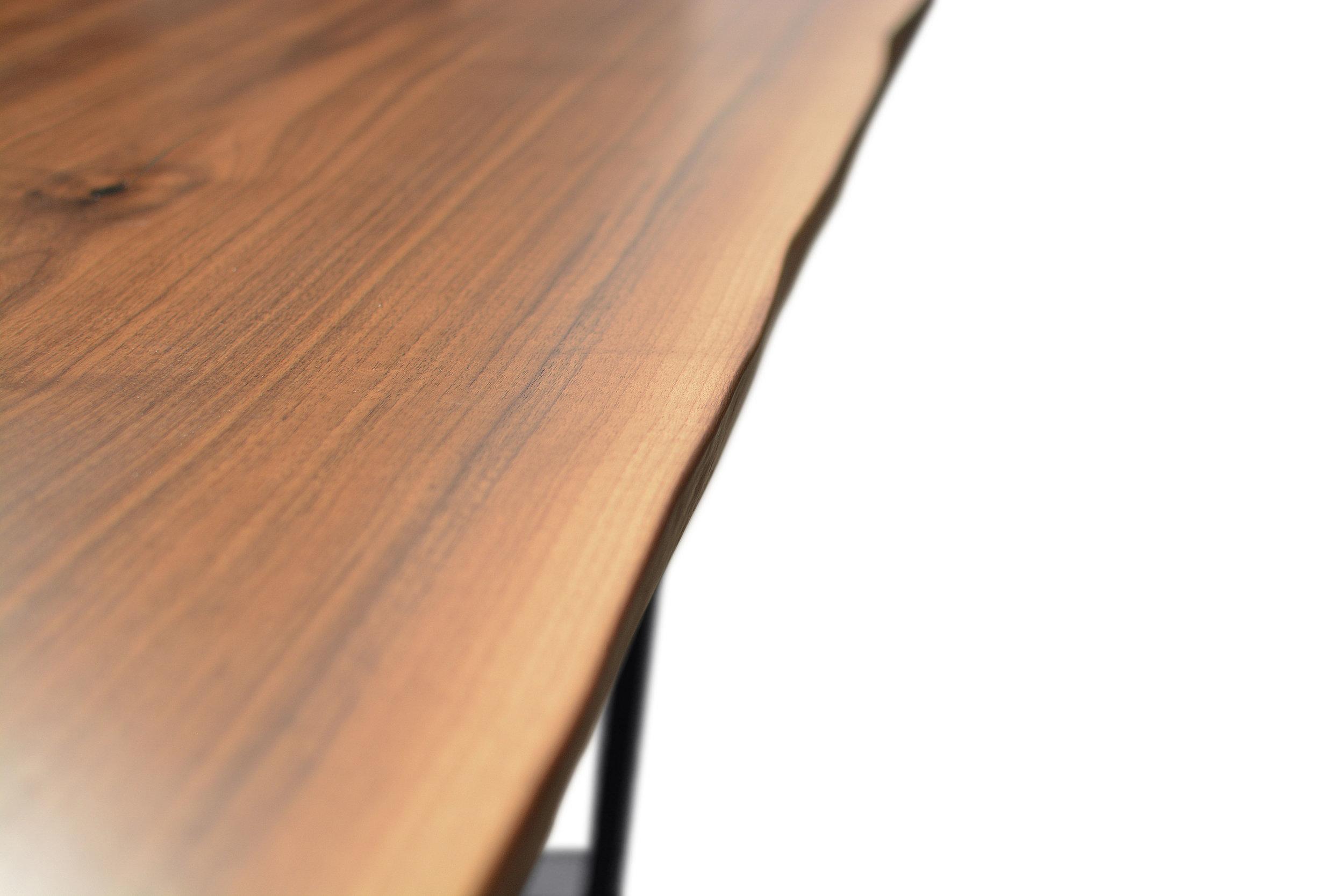 Etz & Steel Hermes Live Edge Walnut Table Close Up 19.JPG