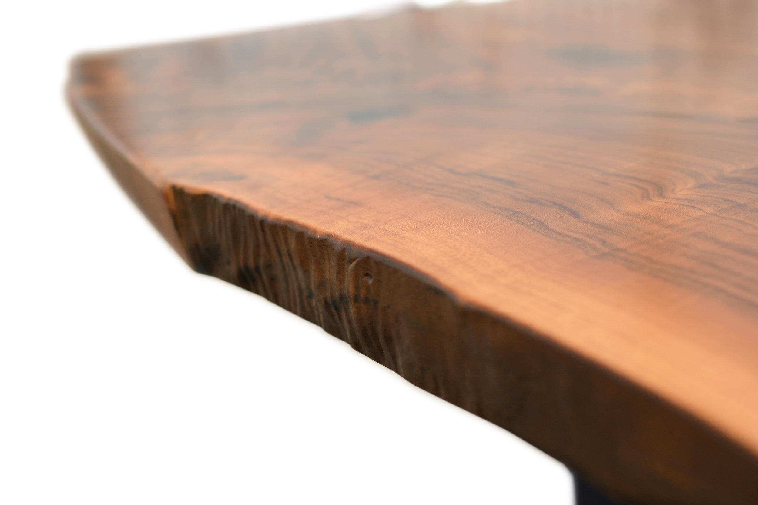 Etz & Steel Hermes Live Edge Walnut Table Close Up 21.JPG