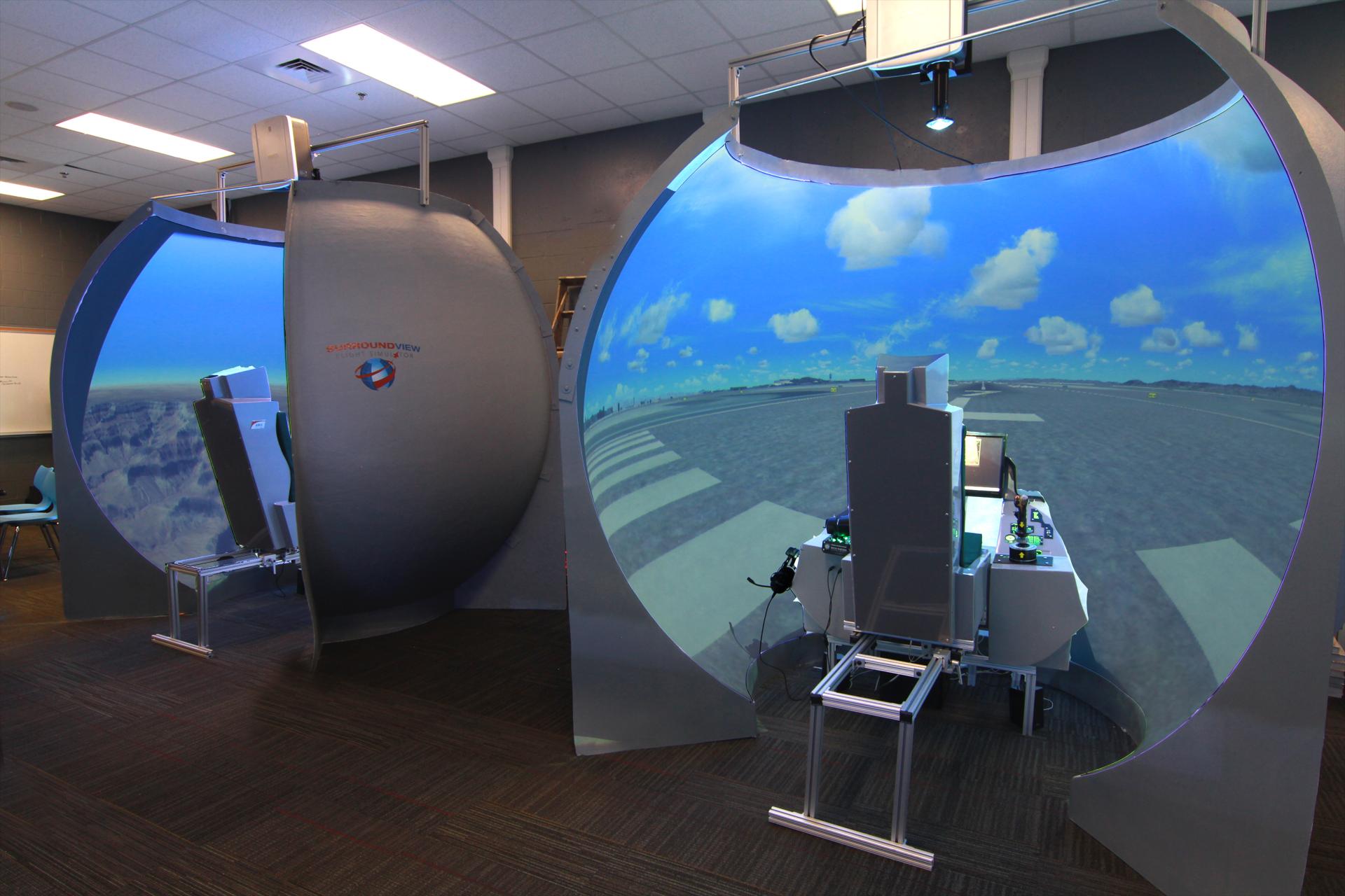Surround View Flight Simulators